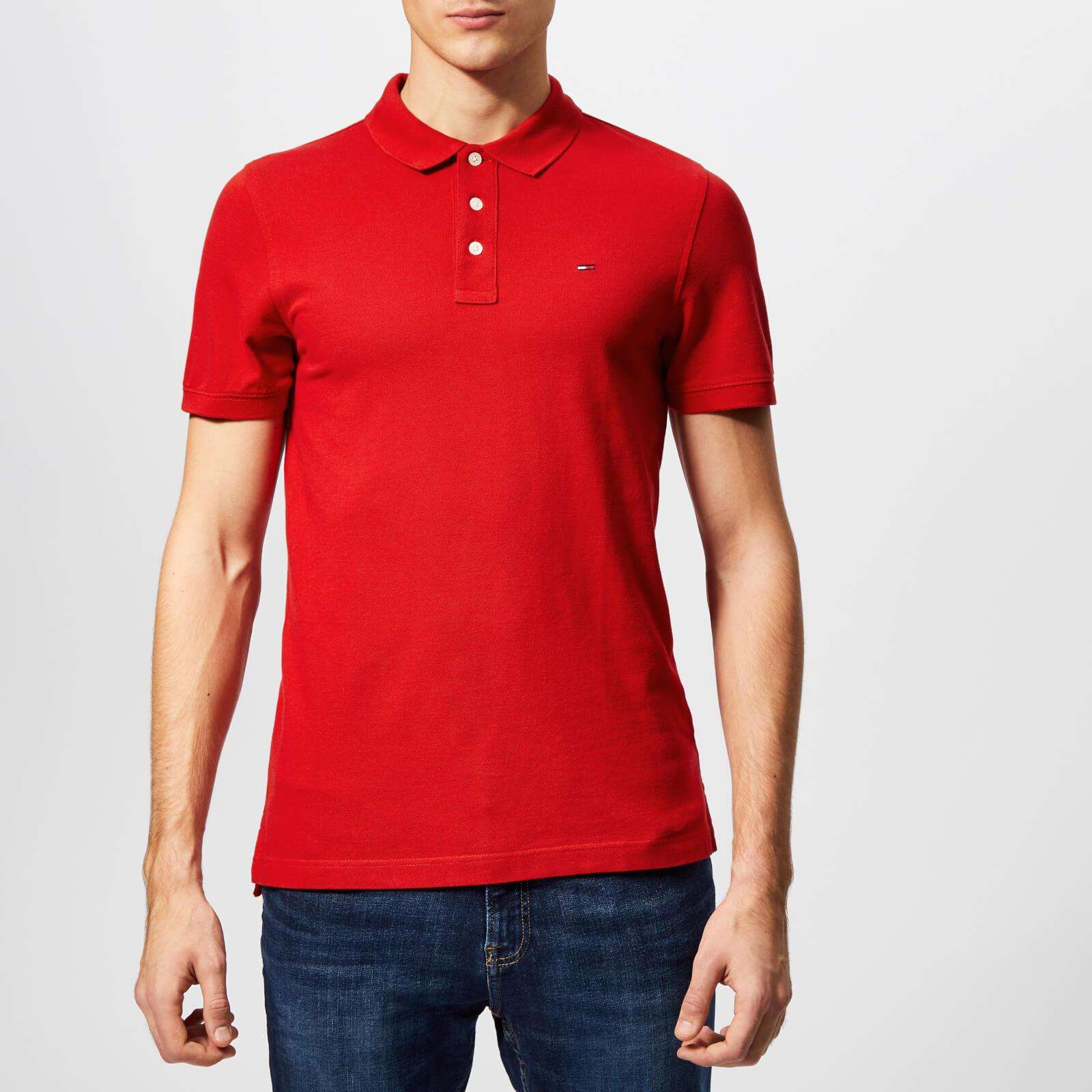 1490bd0f Tommy Jeans Men's Essential Polo Shirt - Samba Clothing   TheHut.com