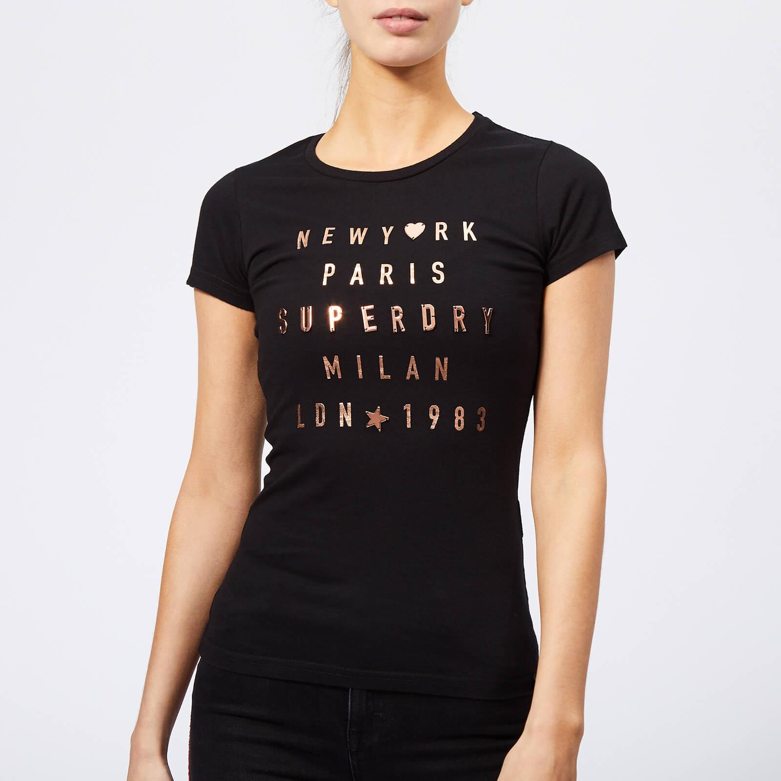 Superdry Women S City Letters T Shirt Black