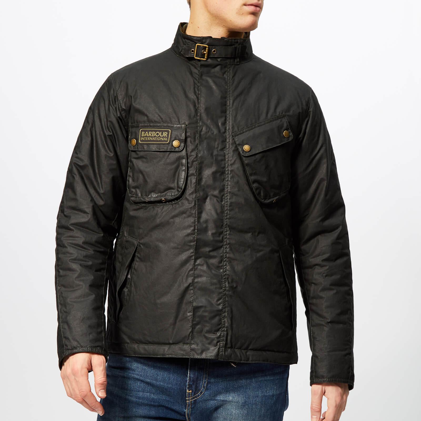 3bef690150 Barbour International Men's Lever Wax Jacket - Sage - Free UK Delivery over  £50