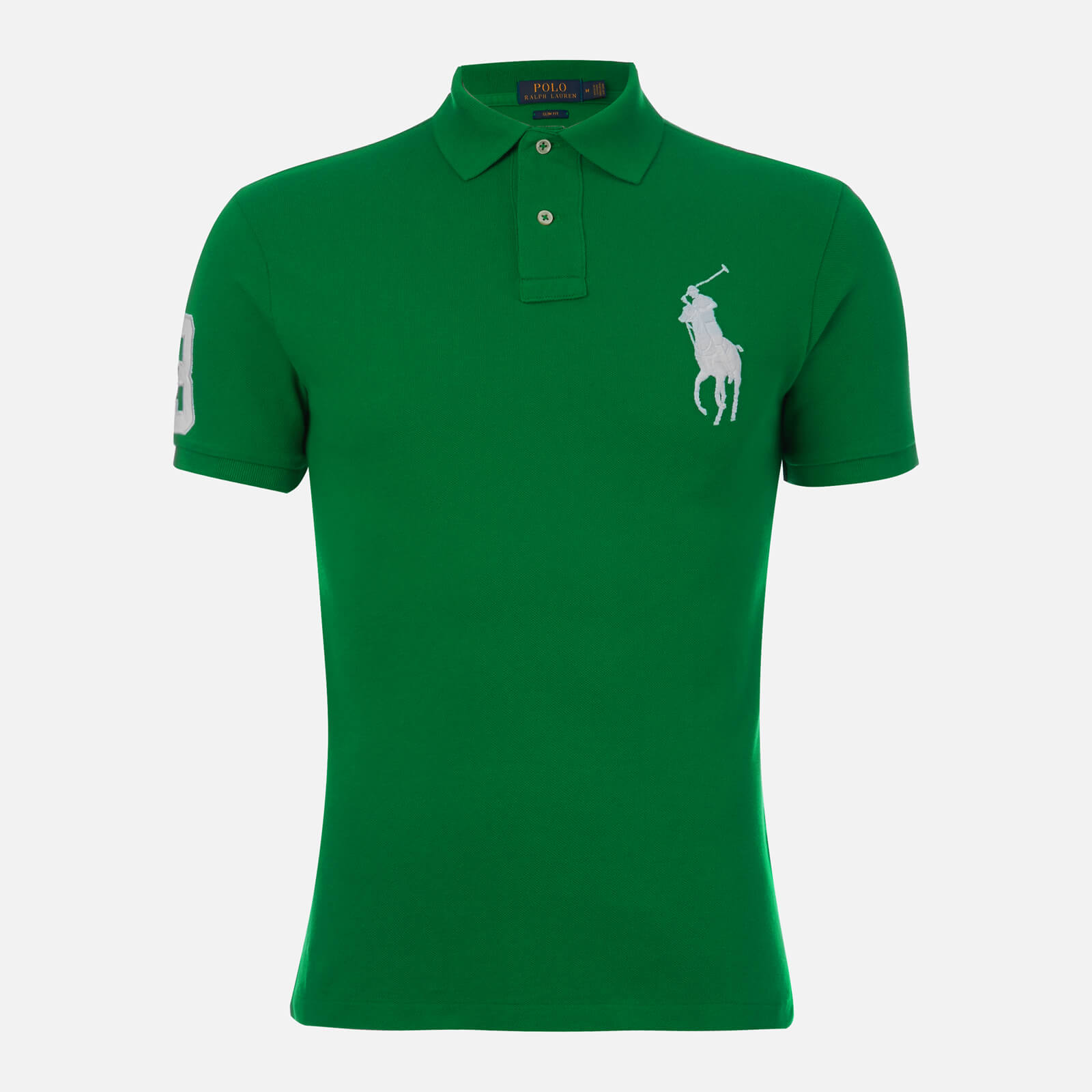36d1f9c8bb785 Polo Ralph Lauren Men s Slim Fit Basic Mesh Polo Shirt - Green White ...
