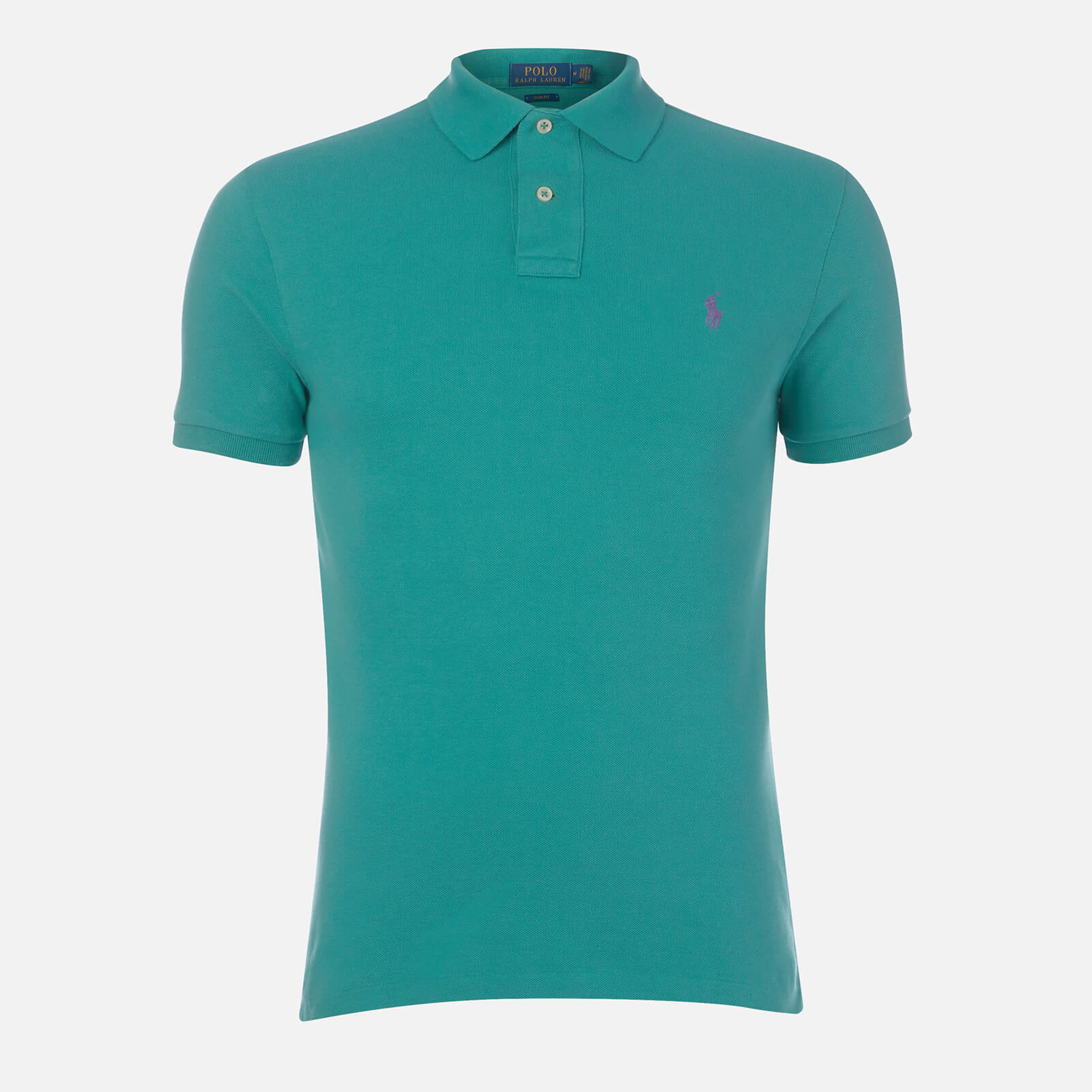 4d0a1fcd2395dc Polo Ralph Lauren Men's Slim Fit Weathered Mesh Polo Shirt - Green - Free  UK Delivery over £50