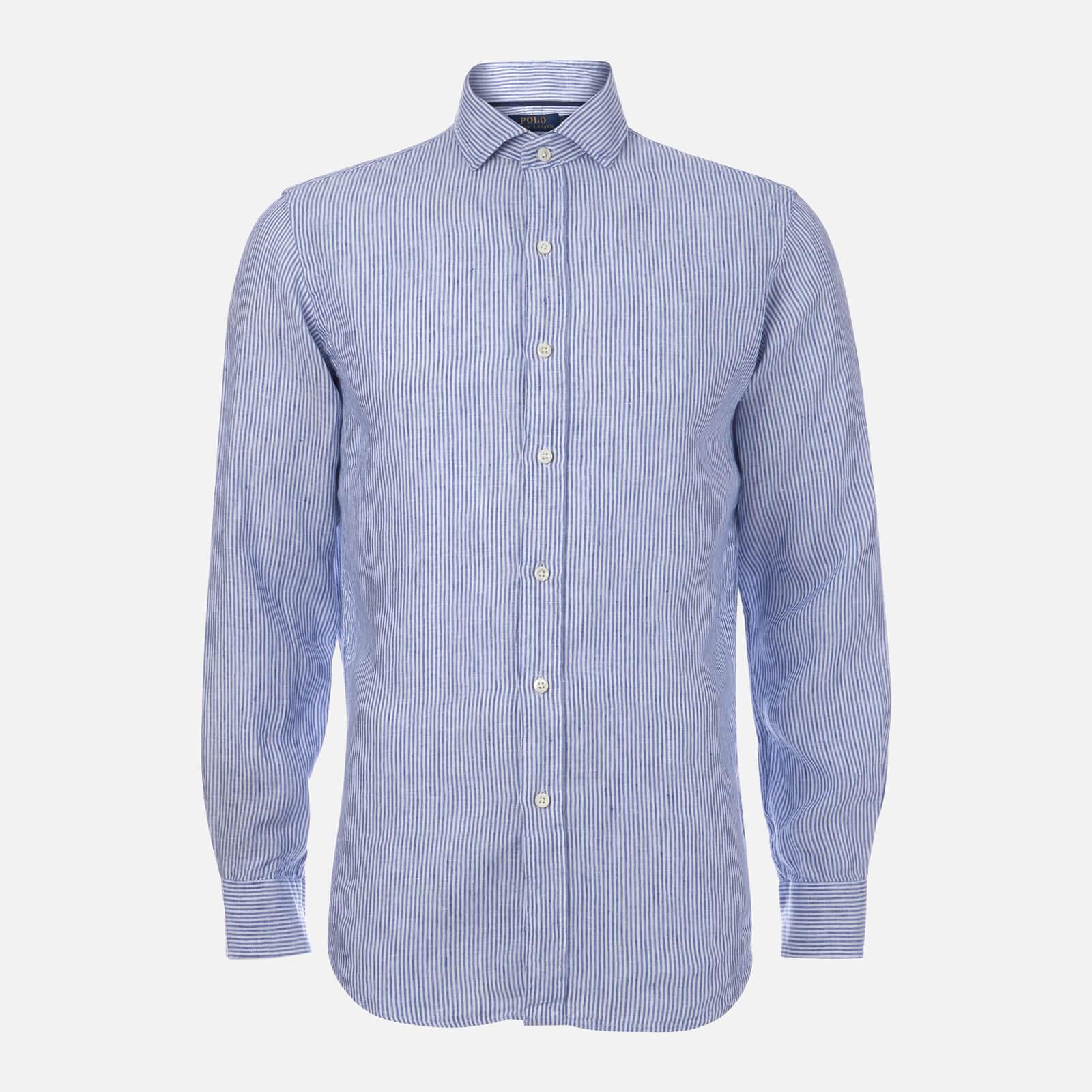 cf4edb09d Polo Ralph Lauren Men s Linen Spead Estate Shirt - Blue - Free UK Delivery  over £50