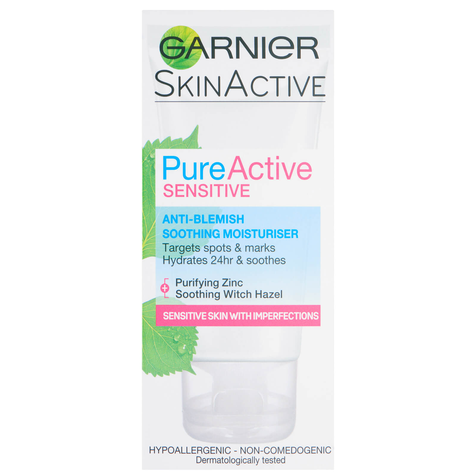 Garnier Pure Active Anti Blemish Face Moisturiser Sensitive Skin 50ml