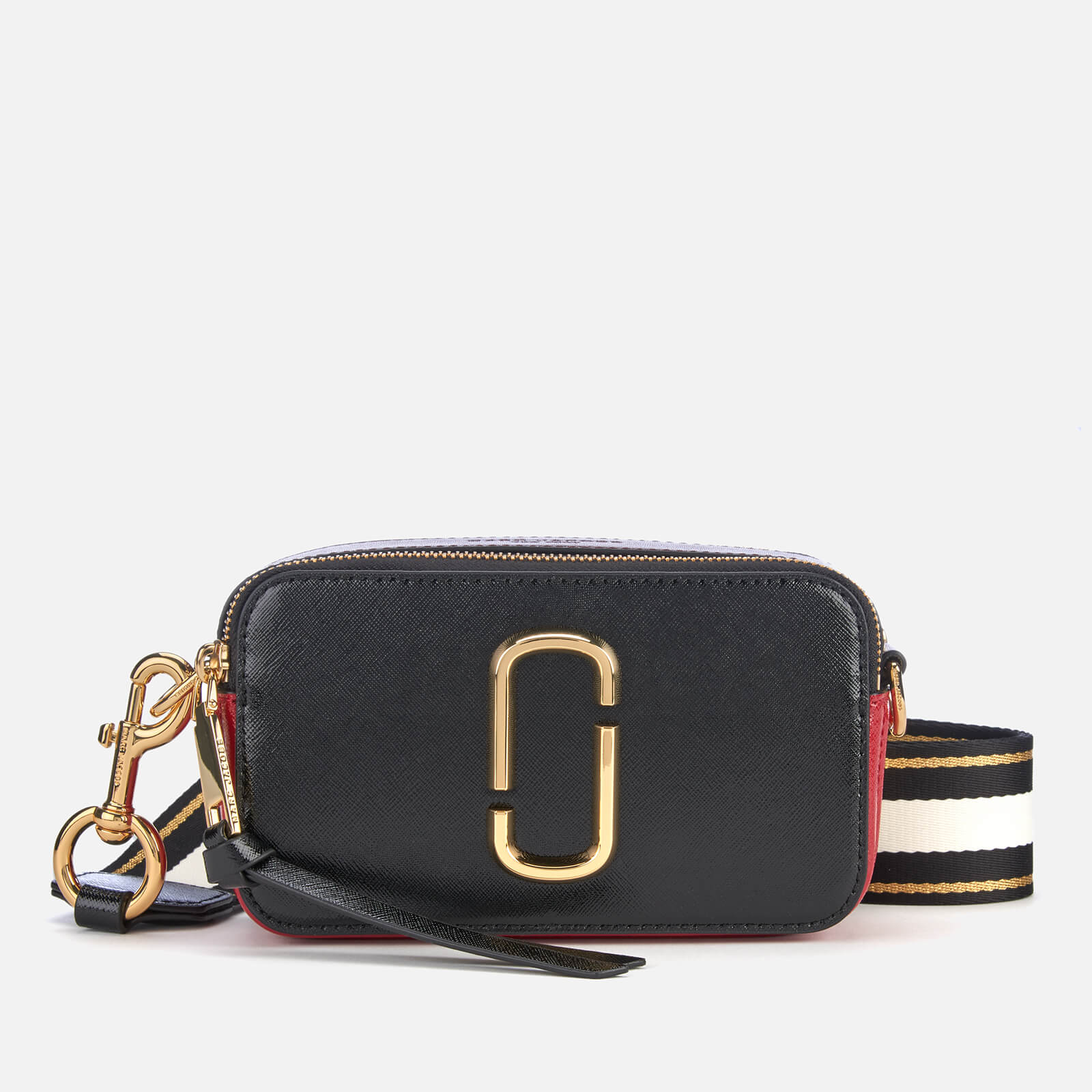 8ff2b445e0 Marc Jacobs Women's Snapshot Cross Body Bag - Black/Red - Free UK Delivery  over £50