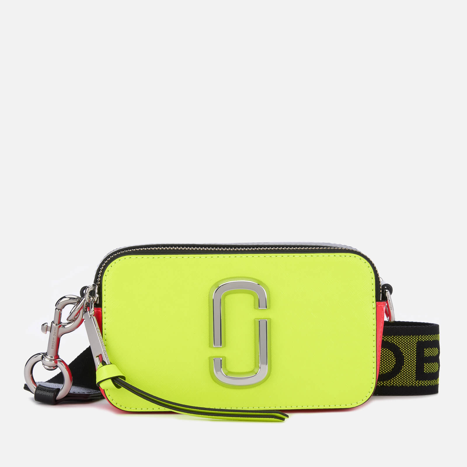 Marc Jacobs Women's Snapshot Fluoro Cross Body Bag - Bright Yellow Multi