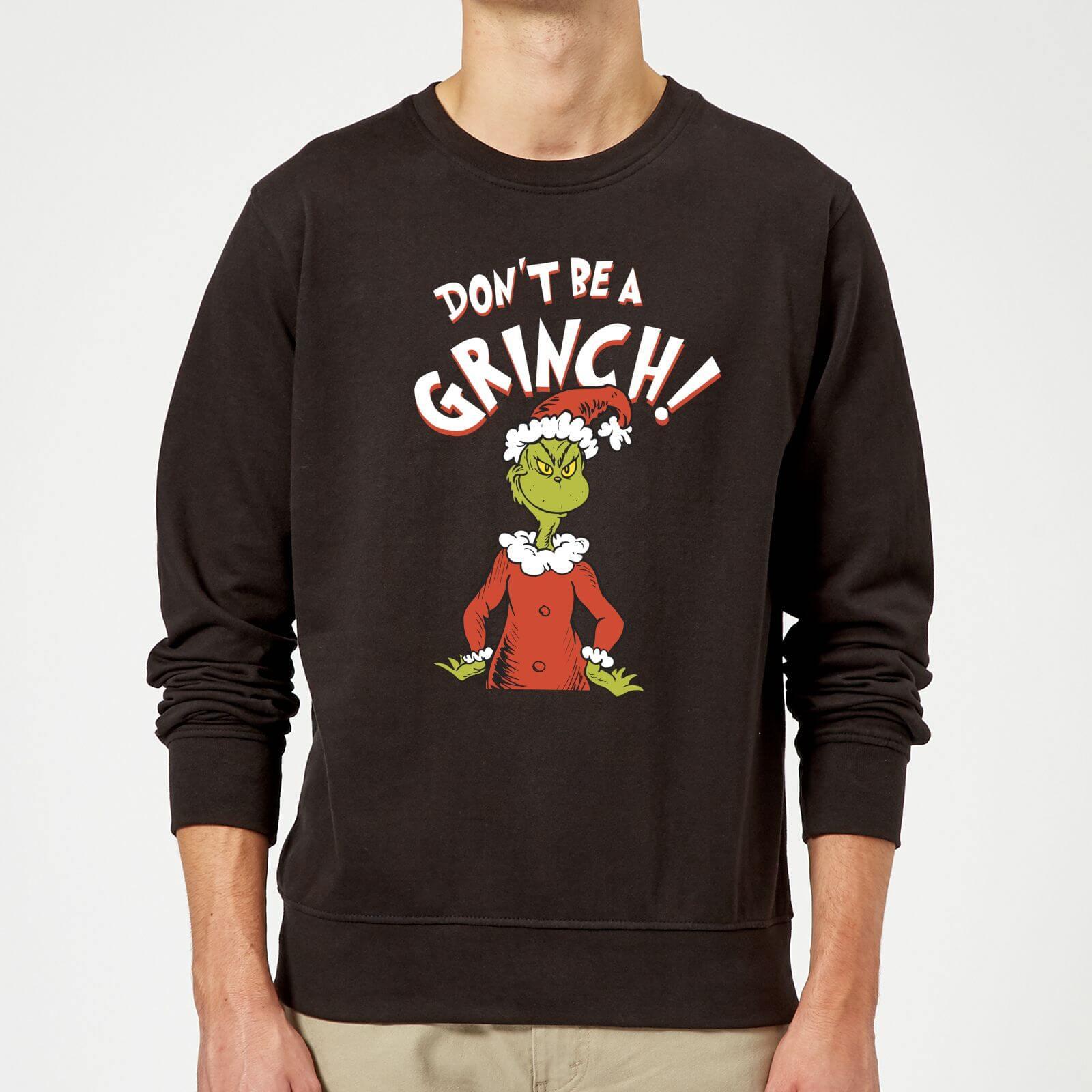 haut fonctionnaire extrêmement unique remise pour vente Pull de Noël Homme Le Grinch - Don't Be A Grinch - Noir