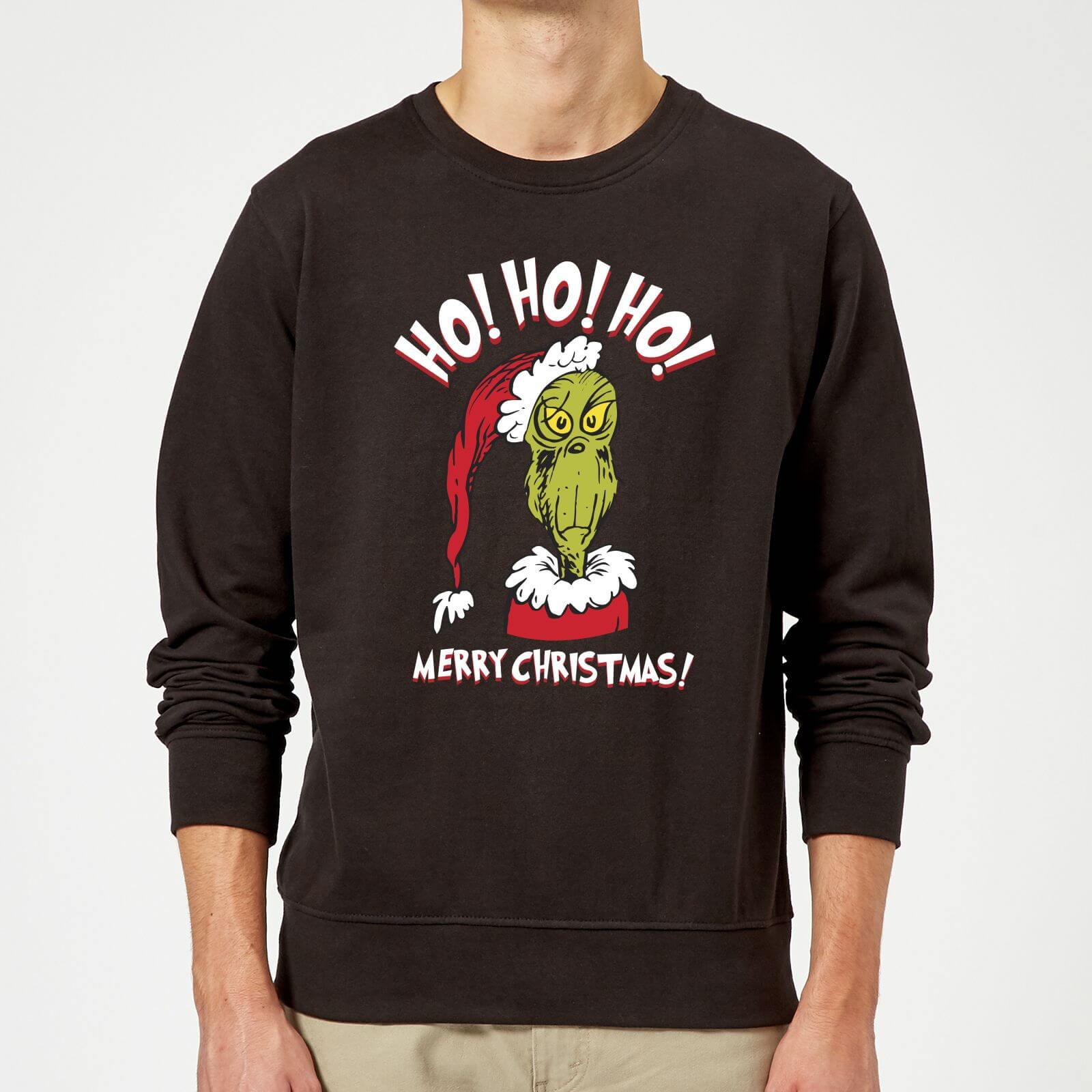 ... Ho Christmas Sweatshirt - Black. Description