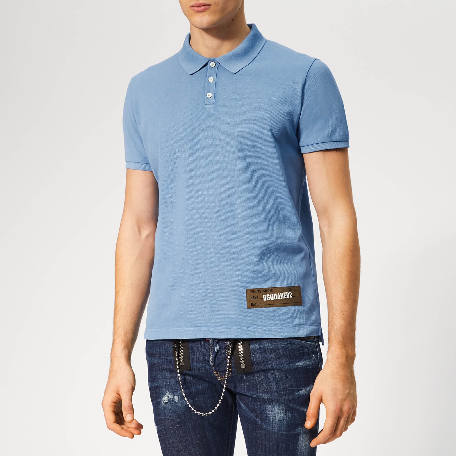 da2833d3 Dsquared2 Men's Classic Fit Polo Shirt - Blue - Free UK Delivery over £50