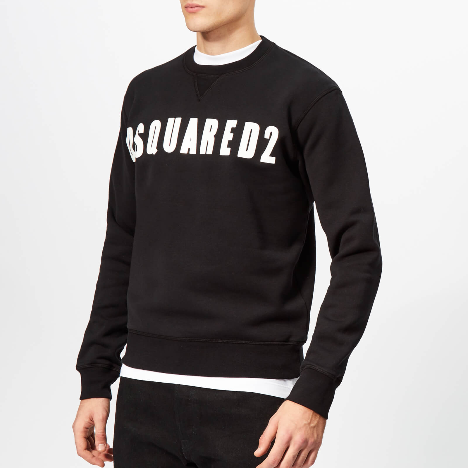 69a14199fdf0 Dsquared2 Men s Dsquared2 Logo Sweatshirt - Black - Free UK Delivery over  £50
