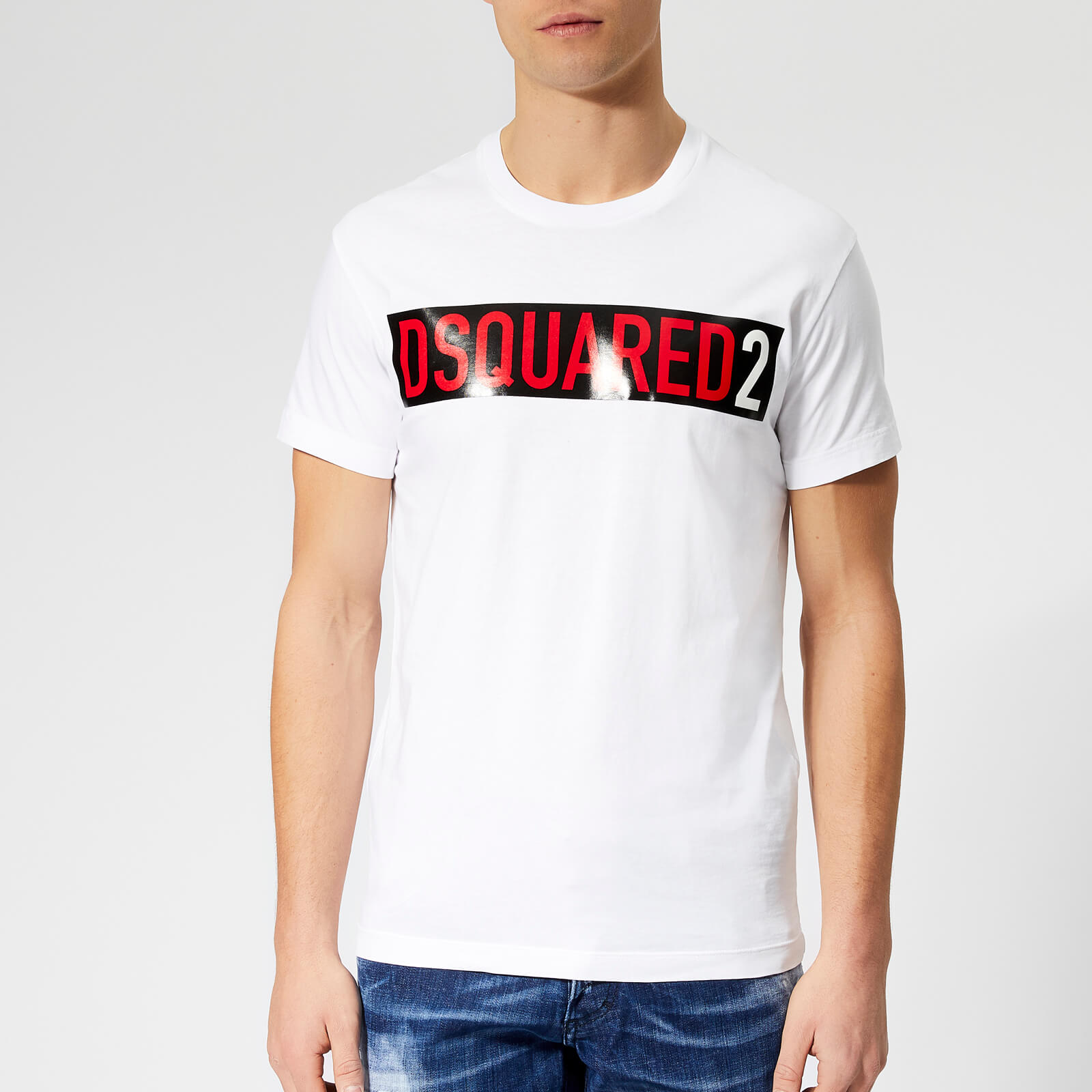 2189a43fe Dsquared2 Men's Box Print T-Shirt - White - Free UK Delivery over £50