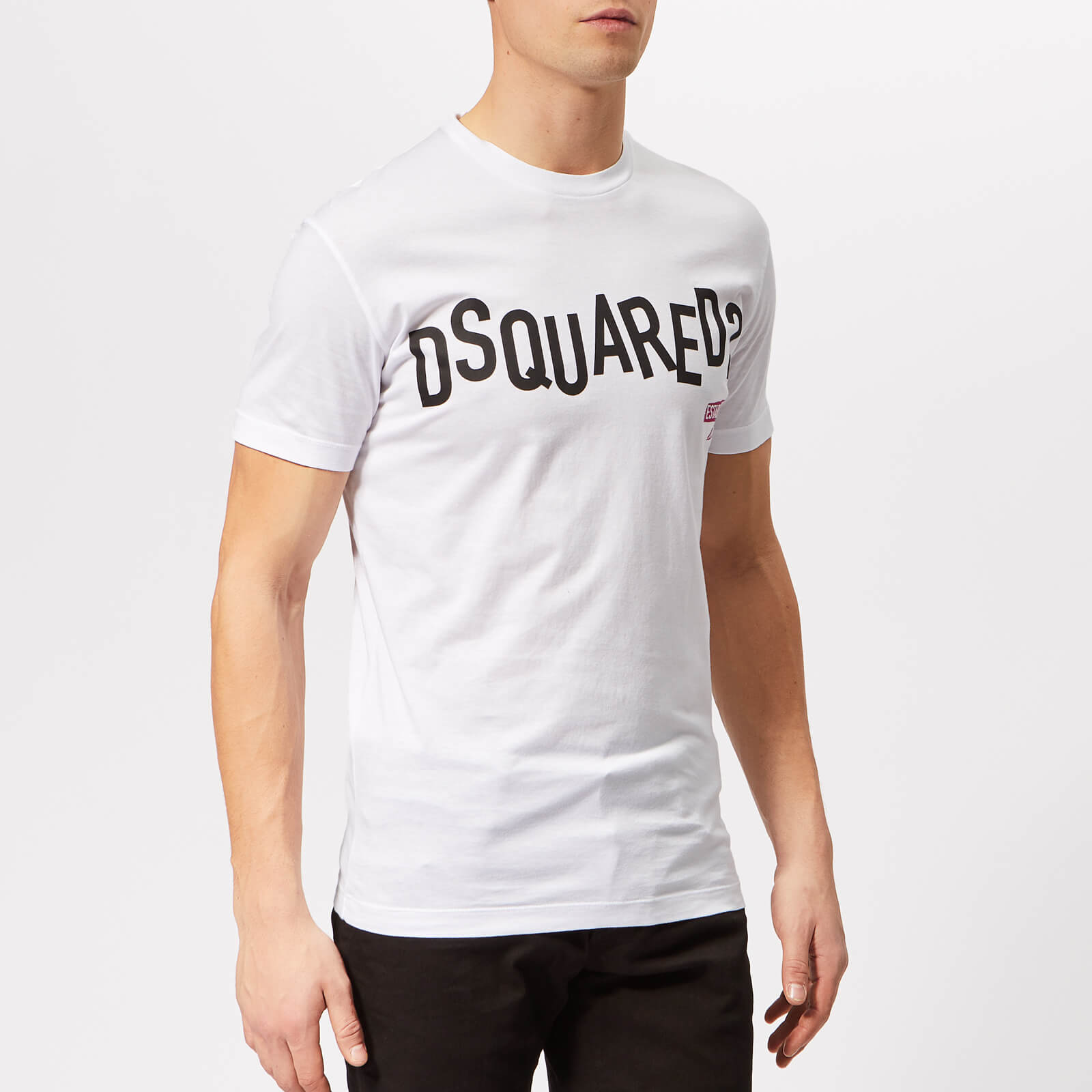 abc2524d1 Dsquared2 Men's Cool Fit Punk Logo T-Shirt - White - Free UK Delivery over £ 50