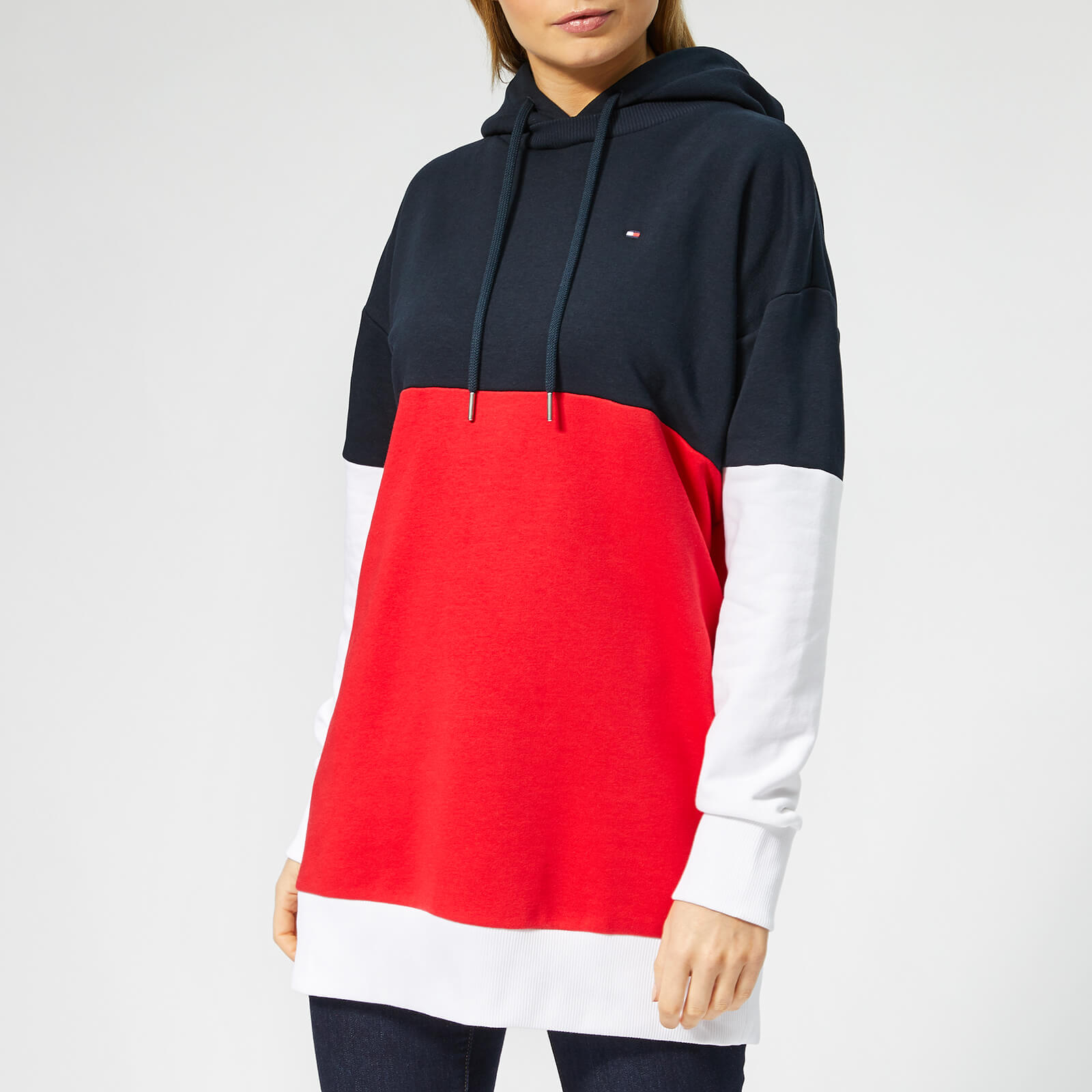 f09c3c46 Tommy Hilfiger Women's Talina Hoodie - Midnight/Red/White Womens Clothing |  TheHut.com