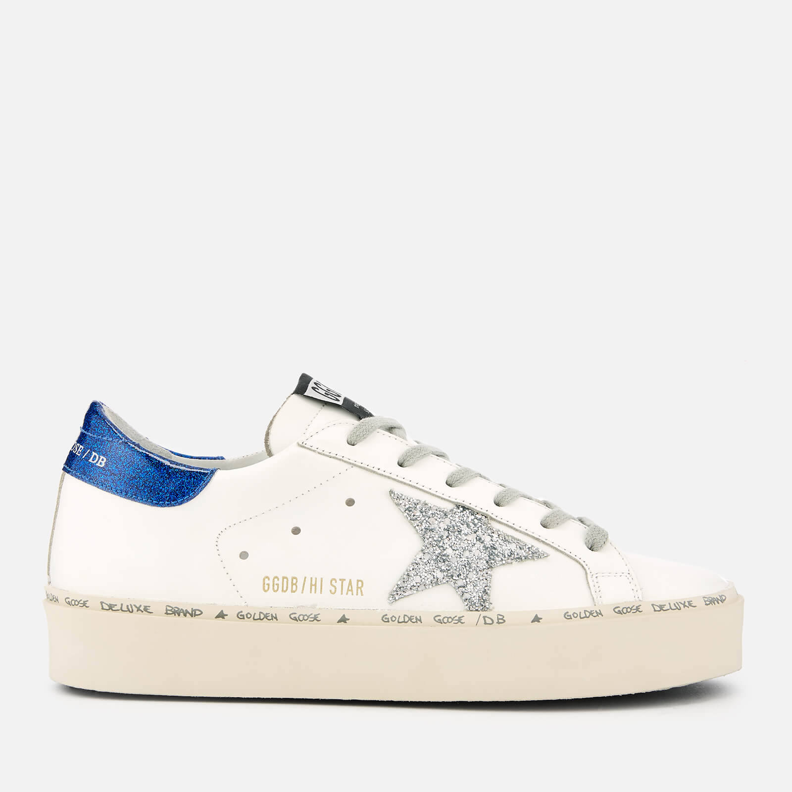 Hi Golden Women's Goose Deluxe Trainers Star White Brand Leather m80ONnyvw