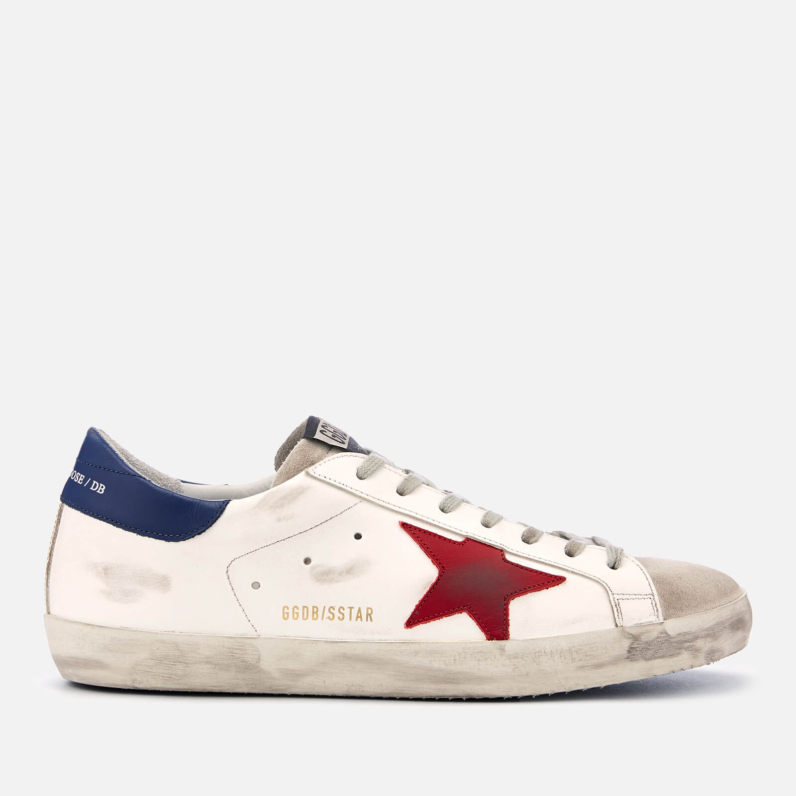 7c86a2172f5 Golden Goose Deluxe Brand Men s Superstar Leather Trainers - White Red Star  - Free UK Delivery over £50