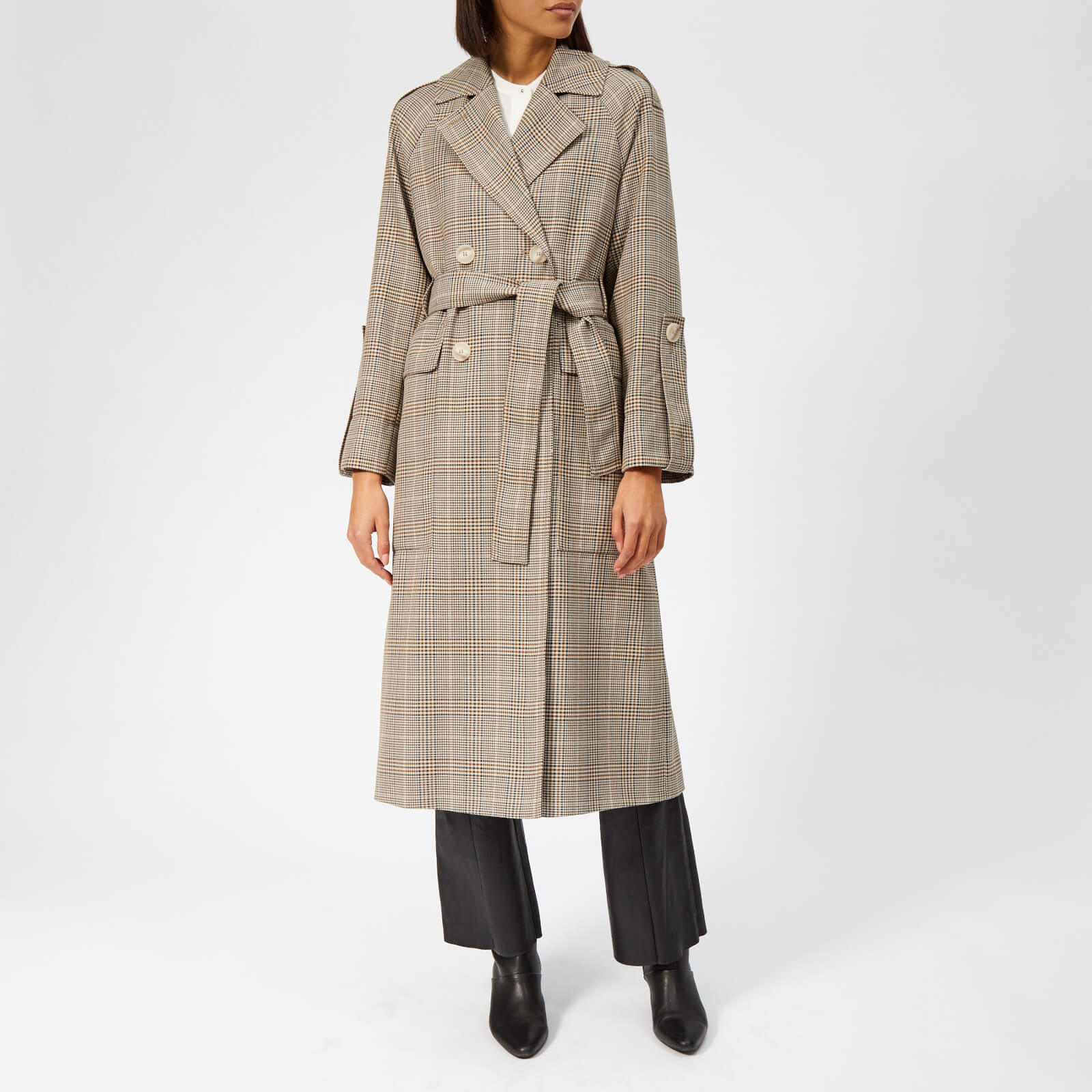 great discount sale for whole family terrific value Whistles Women's Check Trench Coat - Multicolour