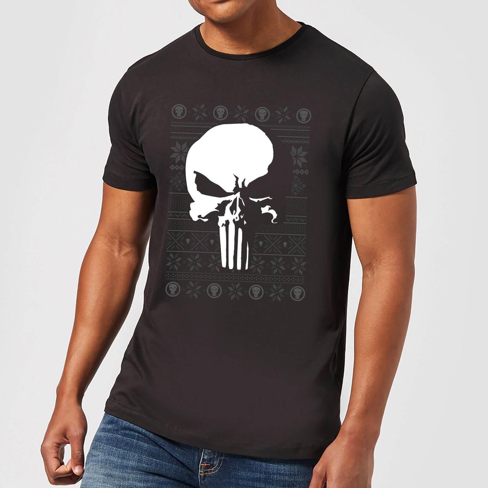 be507ce4 Marvel Punisher Men's Christmas T-Shirt - Black | IWOOT