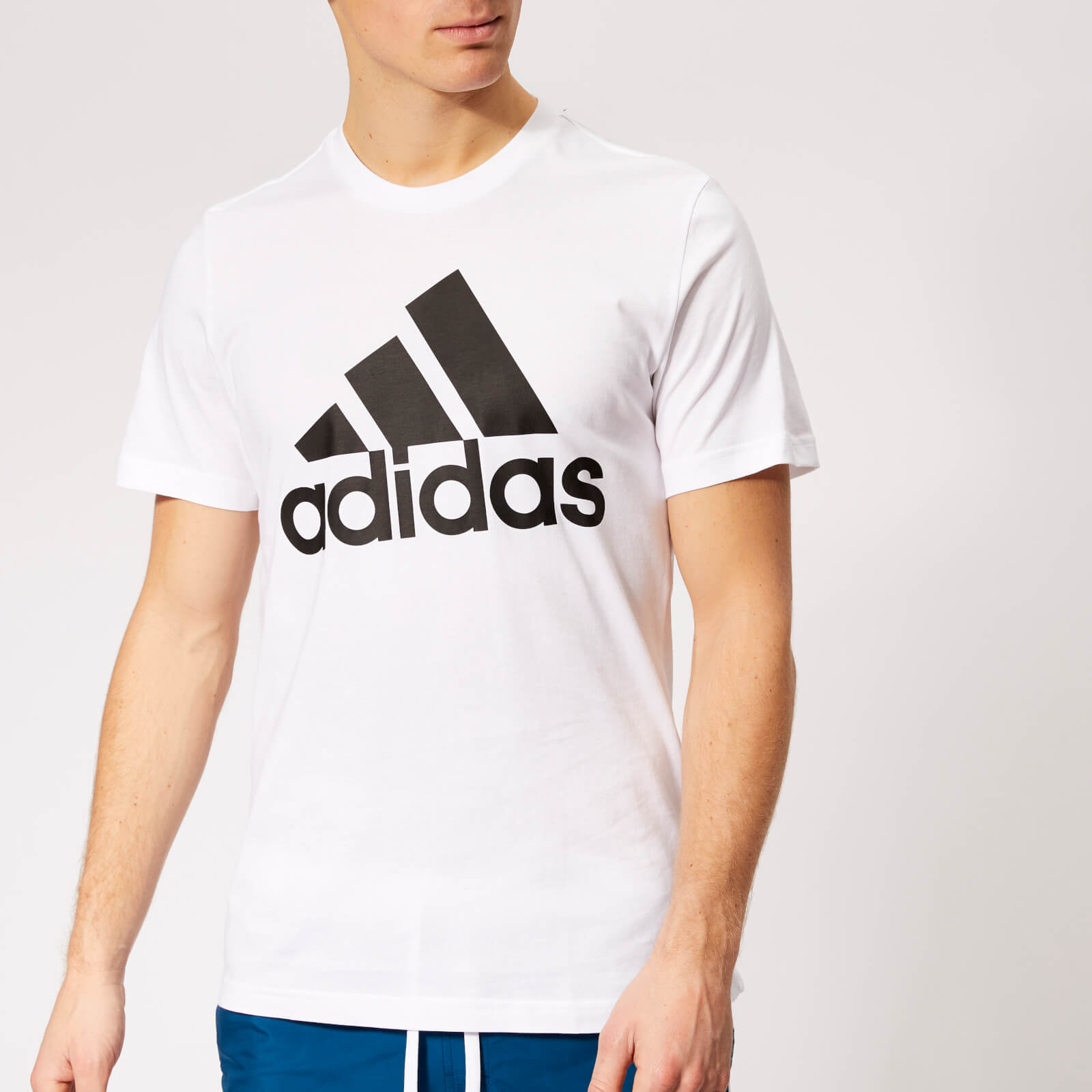 228530eb724e9b adidas Men's Must Haves Badge of Sport Short Sleeve T-Shirt - White/Black  Sports & Leisure | TheHut.com