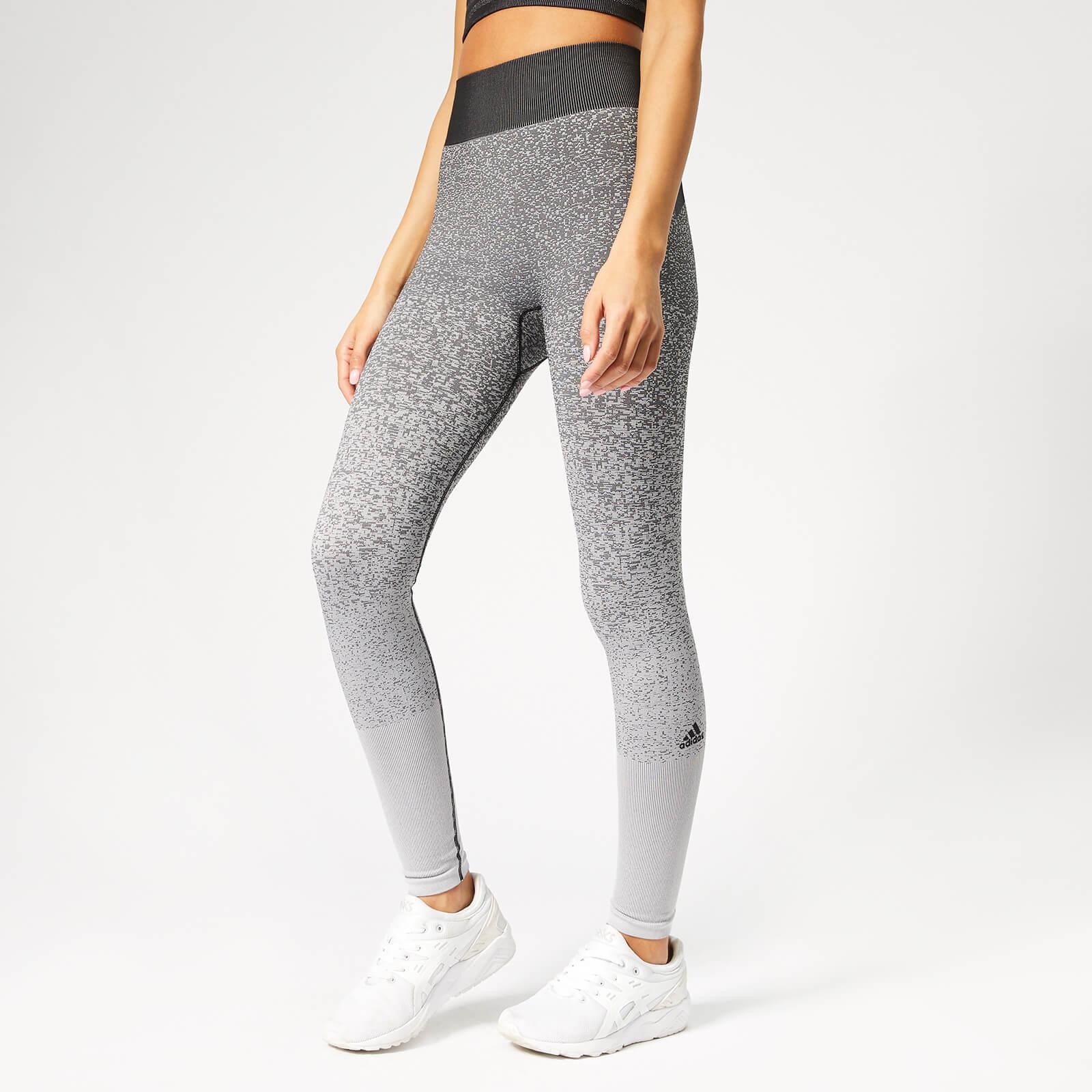 9c2e81f8fadafa adidas Women's Believe This Primeknit FLW Tights - Black/White |  ProBikeKit.com