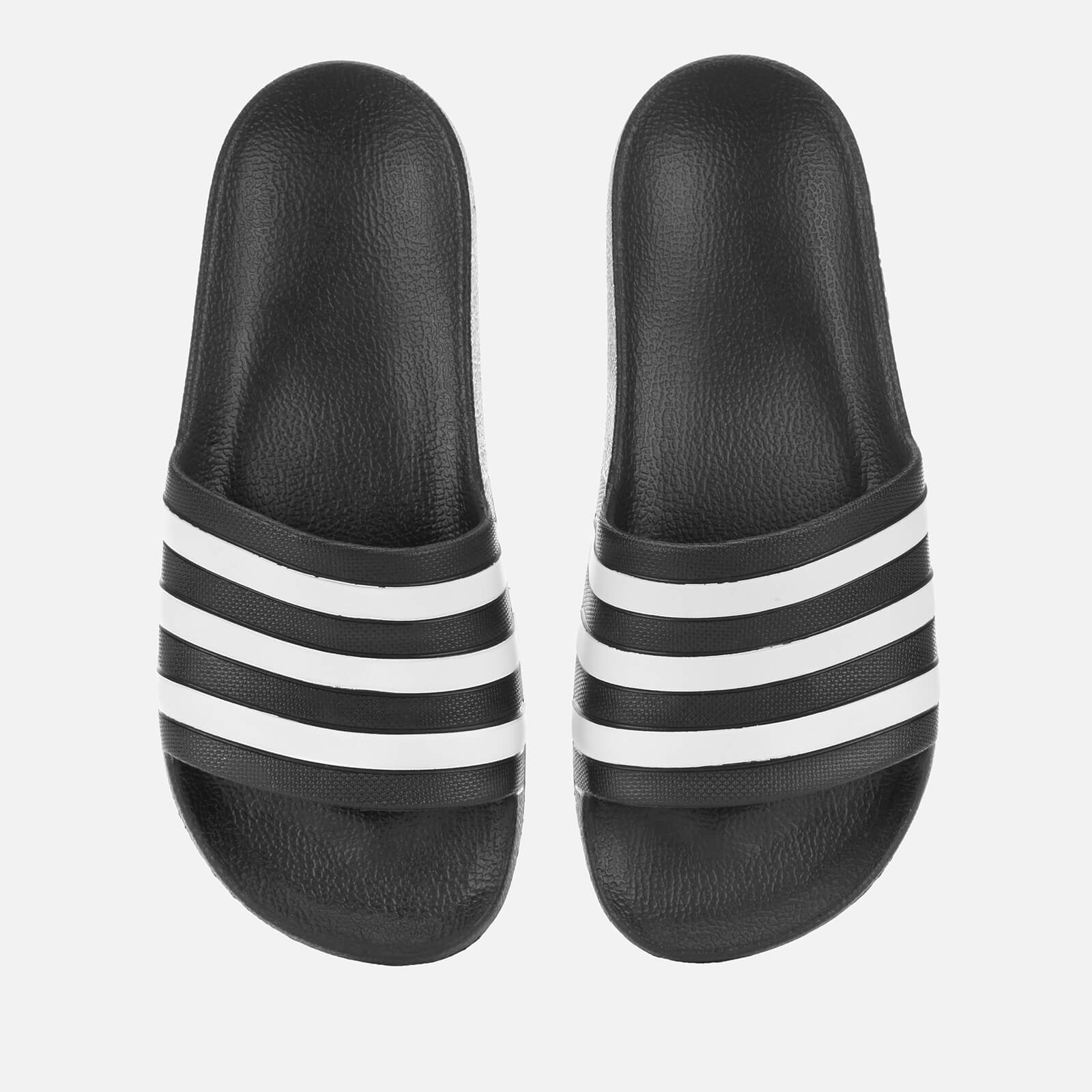 c4b0a9857 adidas Men's Adilette Aqua Slide Sandals - Black Sports & Leisure |  TheHut.com