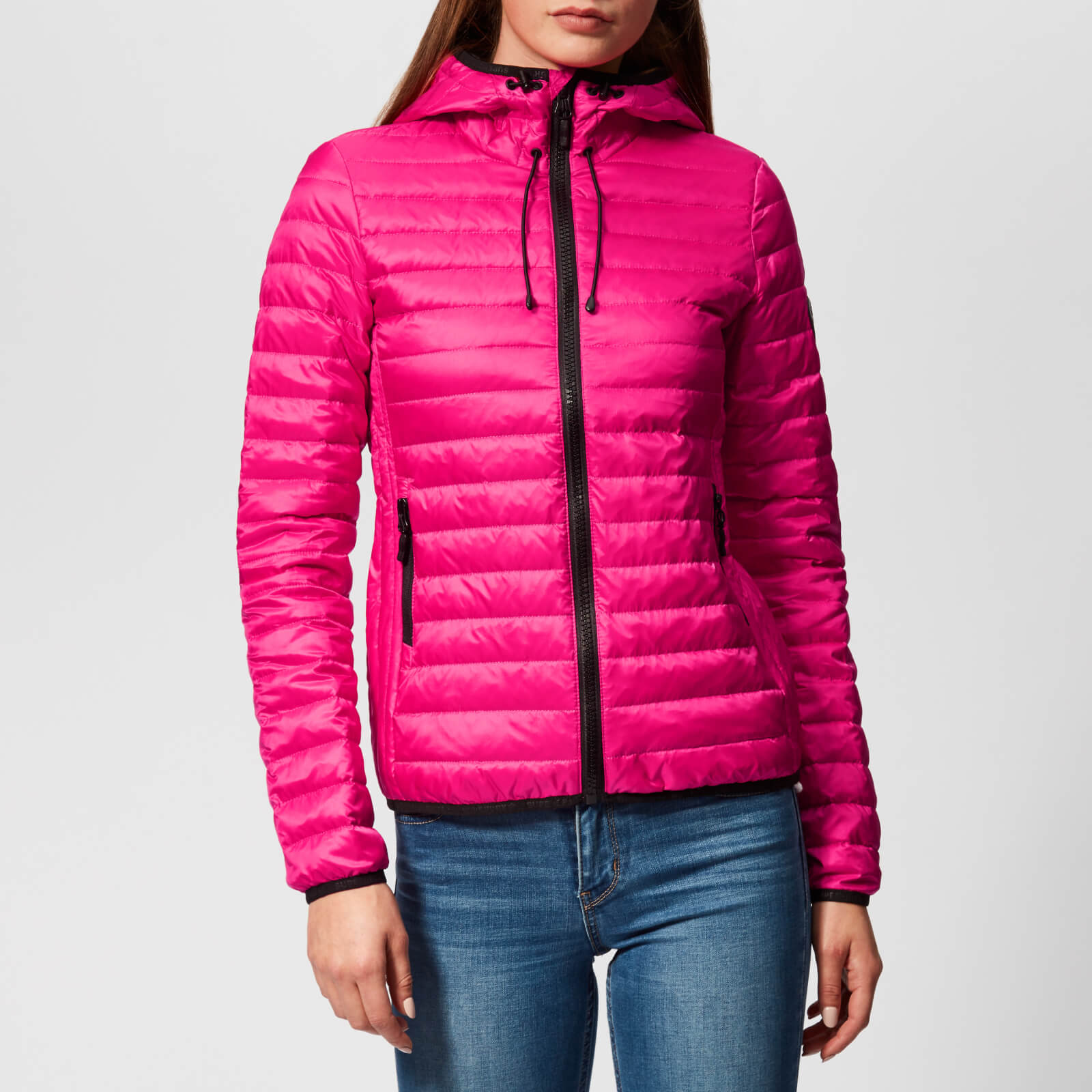 Superdry Women's Core Down Hooded Jacket Pacific Pink