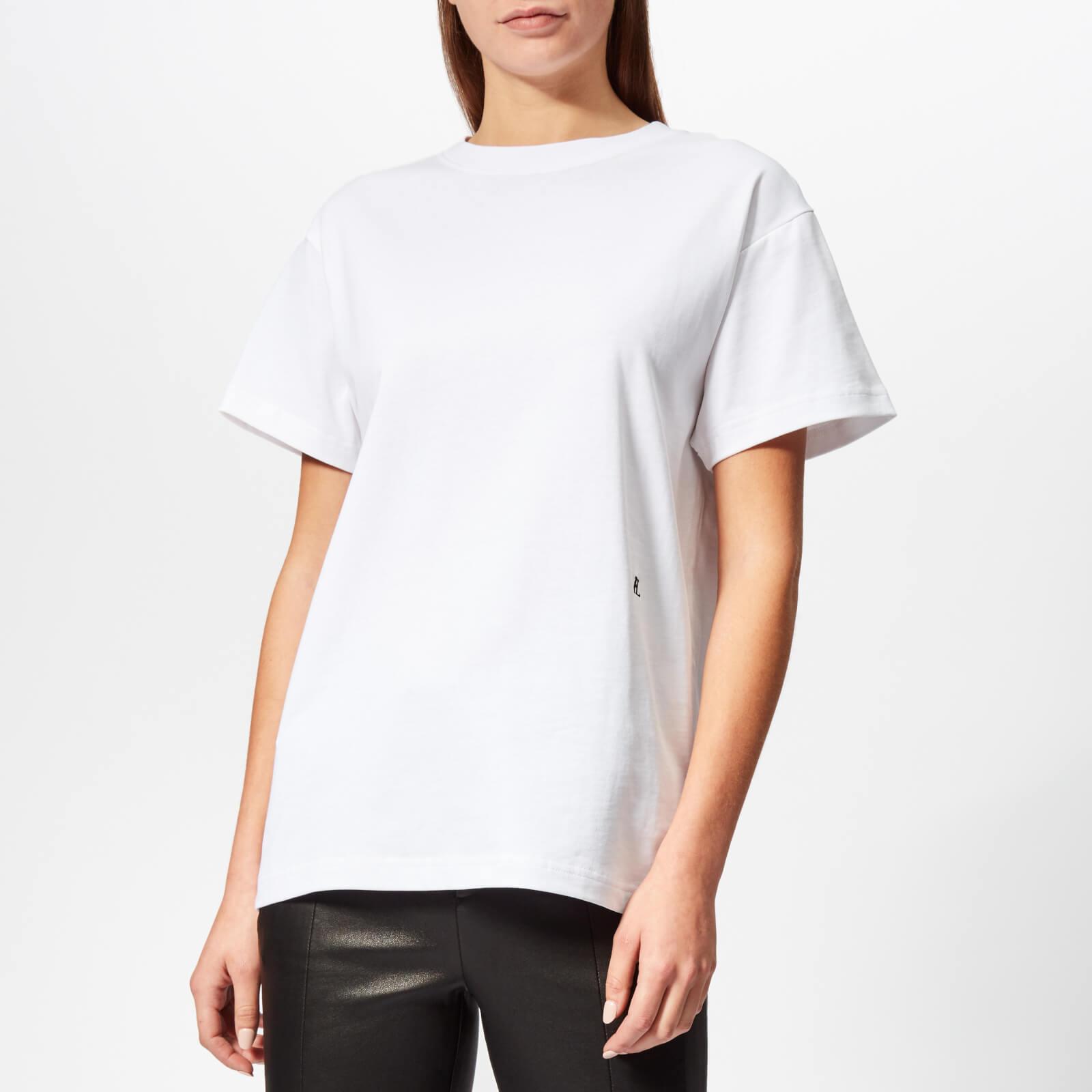 3e4e489c Helmut Lang Women's HL Logo T-Shirt Military - White - Free UK Delivery  over £50
