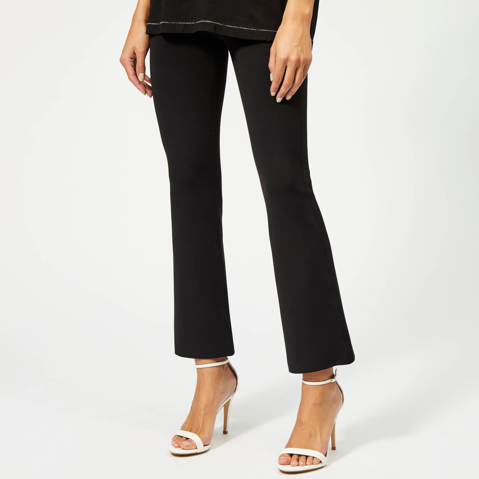 660d7f56e79471 Helmut Lang Women's Flare Scuba Pants - Black - Free UK Delivery over £50