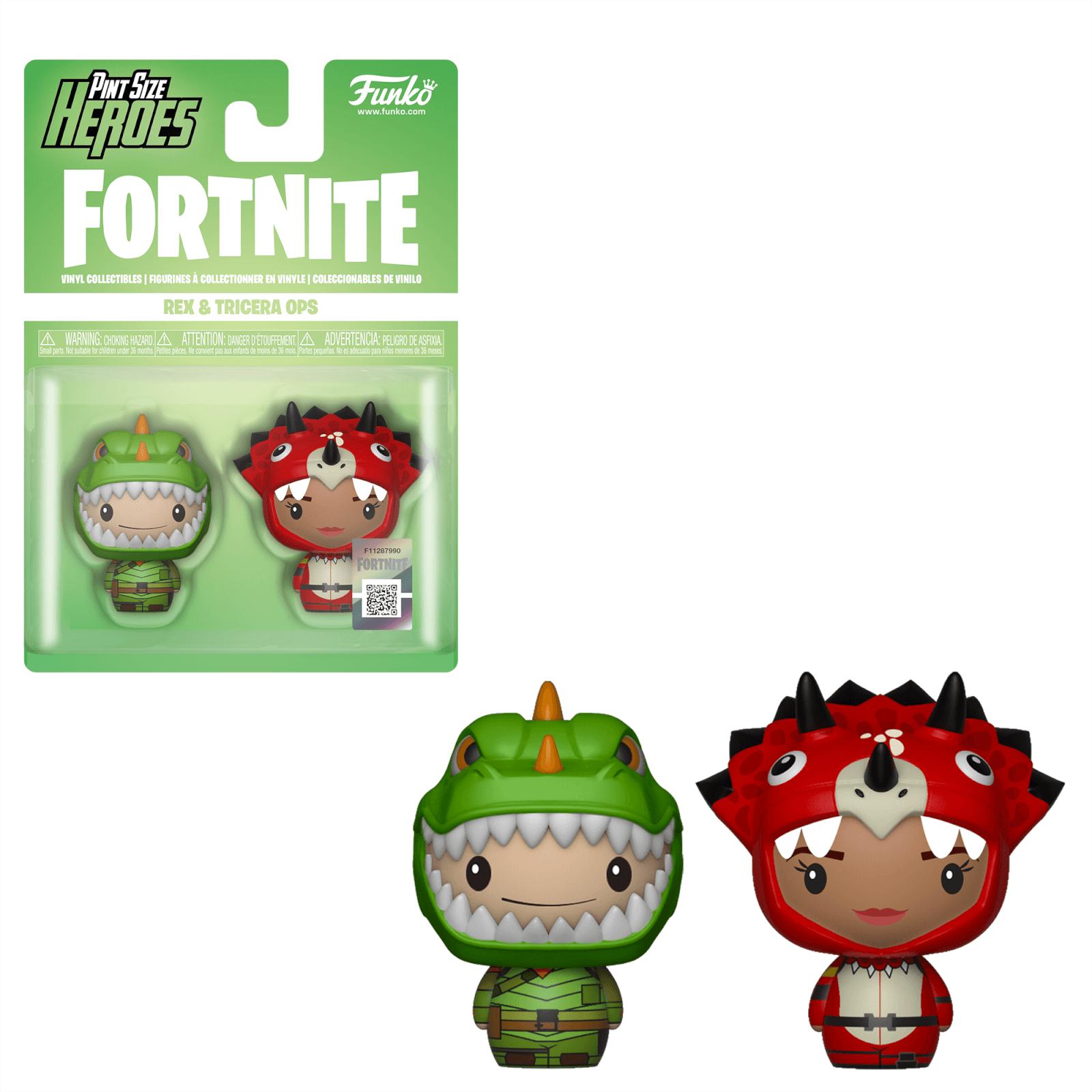 funko fortnite pint size heroes rex and tricera ops 2 pack pop in a box us - pop funko fortnite rex