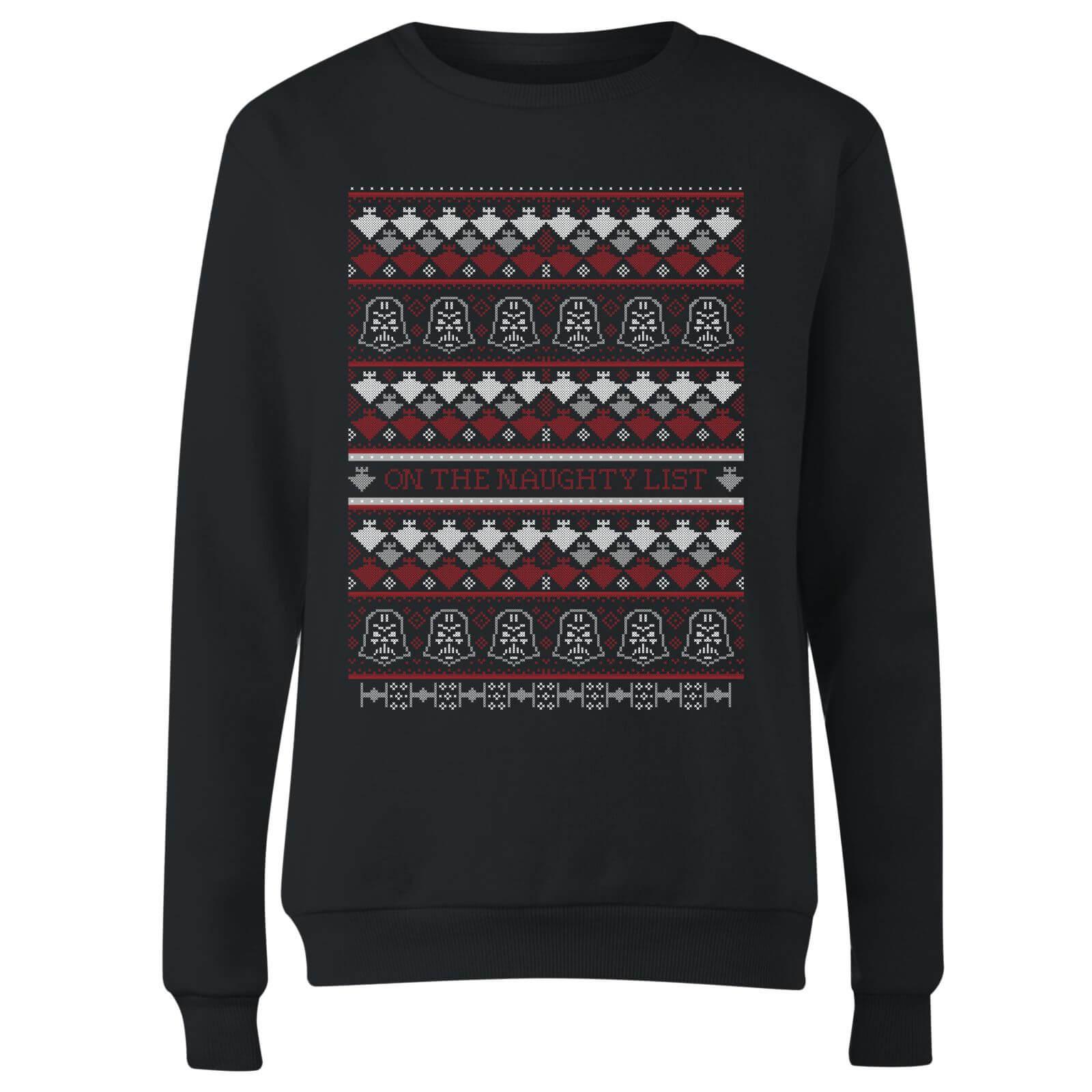 Star Wars On The Naughty List Pattern Womens Christmas Sweatshirt