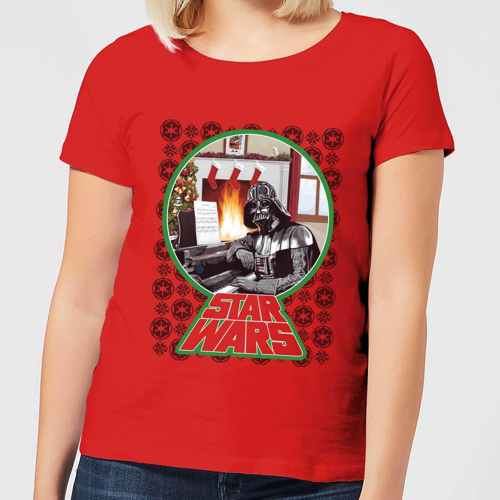 398546c8 Star Wars A Very Merry Sithmas Women's Christmas T-Shirt - Red Clothing |  Zavvi