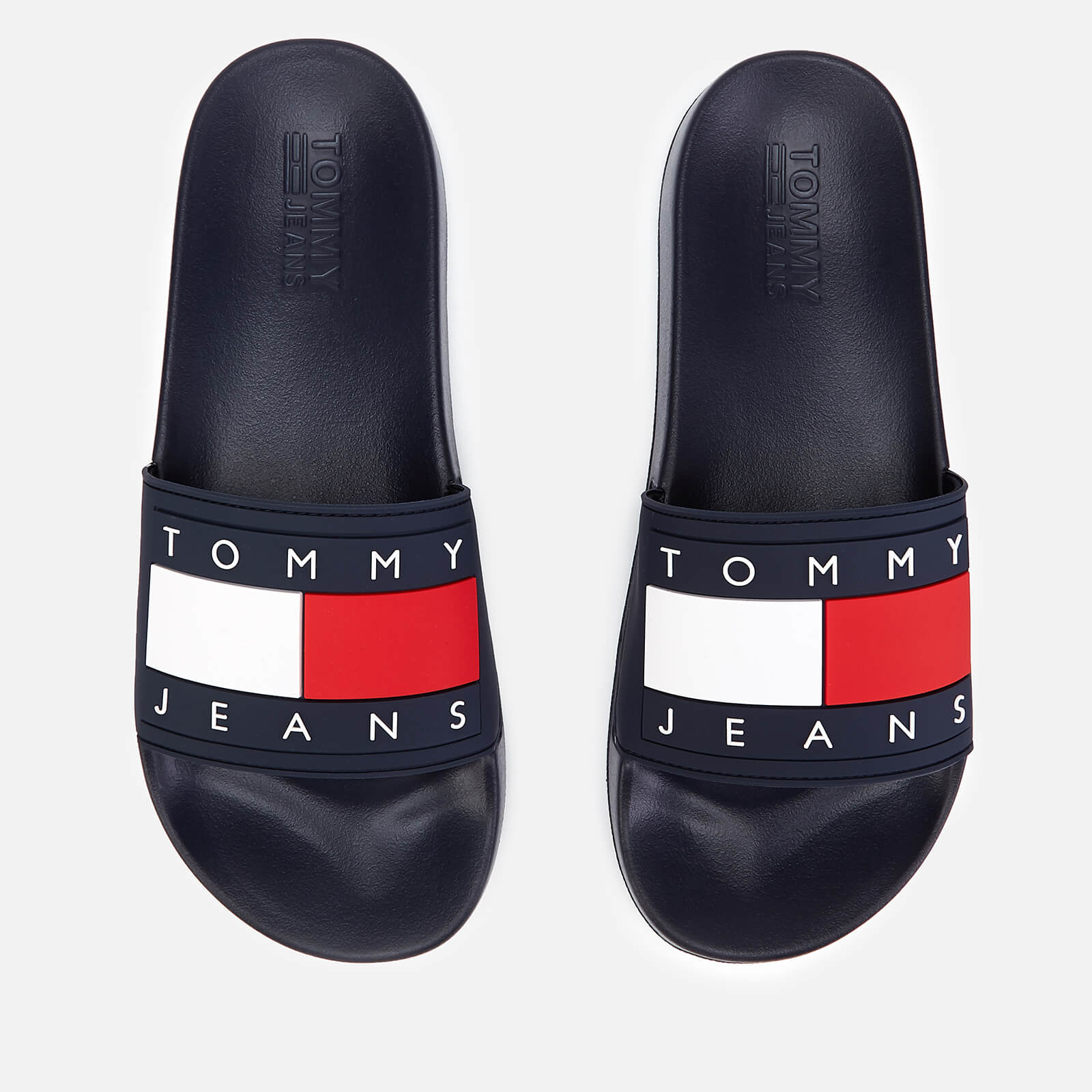 78317c3c Tommy Jeans Men's Flag Pool Slide Sandals - Midnight | FREE UK Delivery |  Allsole