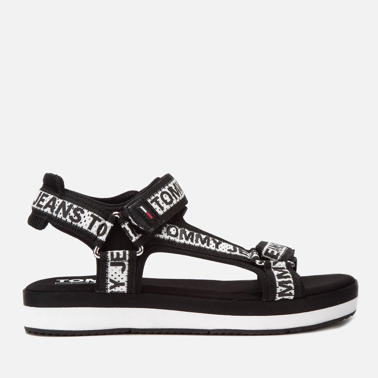 Tommy Jeans Women's Mesh Webbing Sport Sandals - Black