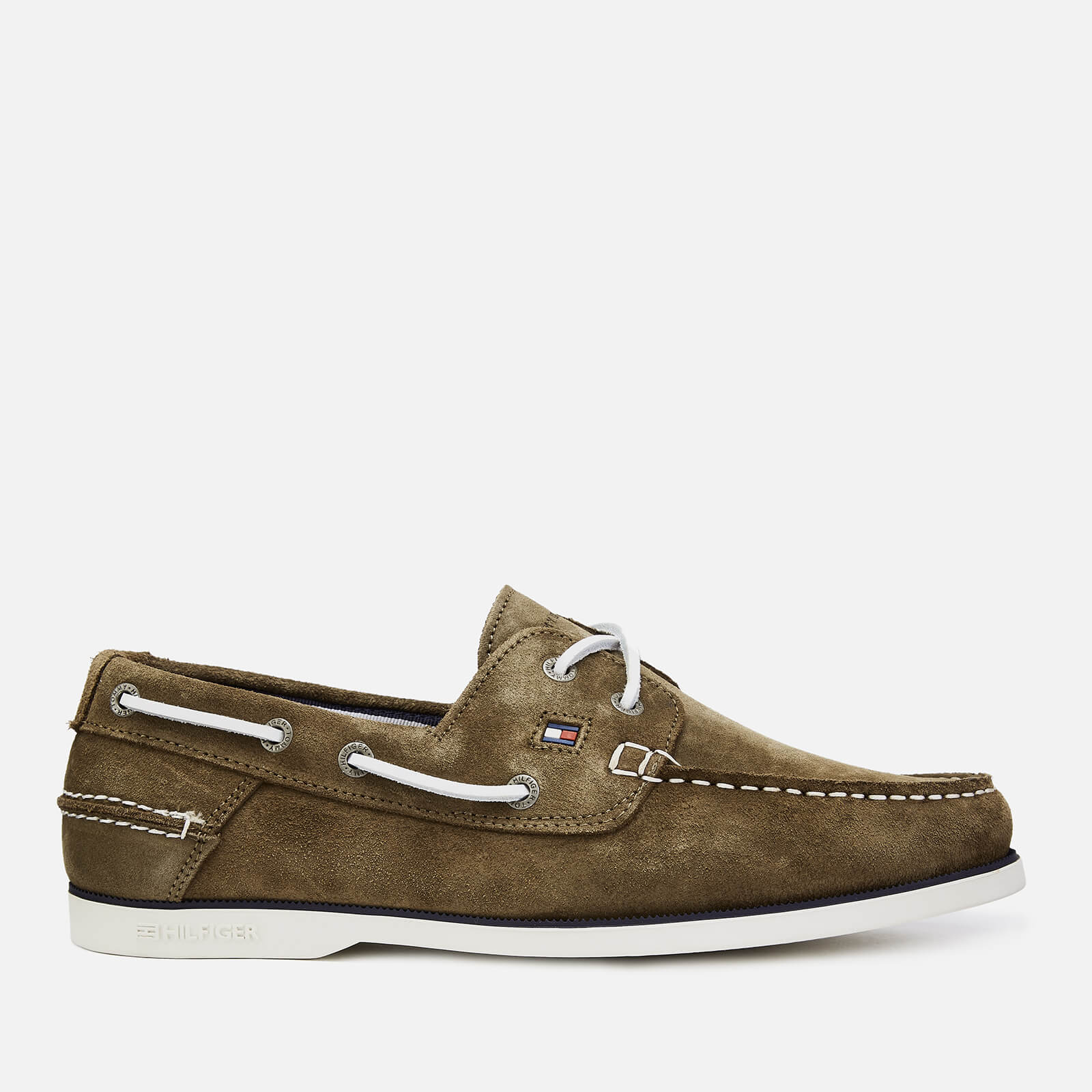 e5532adfa60c Tommy Hilfiger Men s Classic Suede Boat Shoes - Olive Night Clothing ...