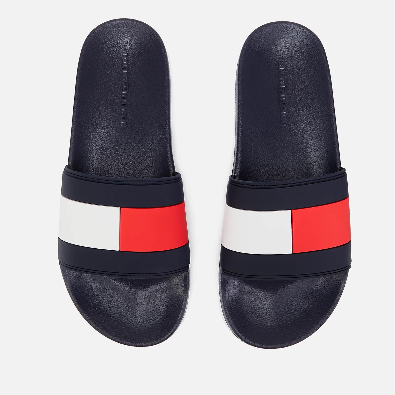 4c406c66b Tommy Hilfiger Men s Essential Flag Pool Slide Sandals - Red White Blue  Mens Footwear