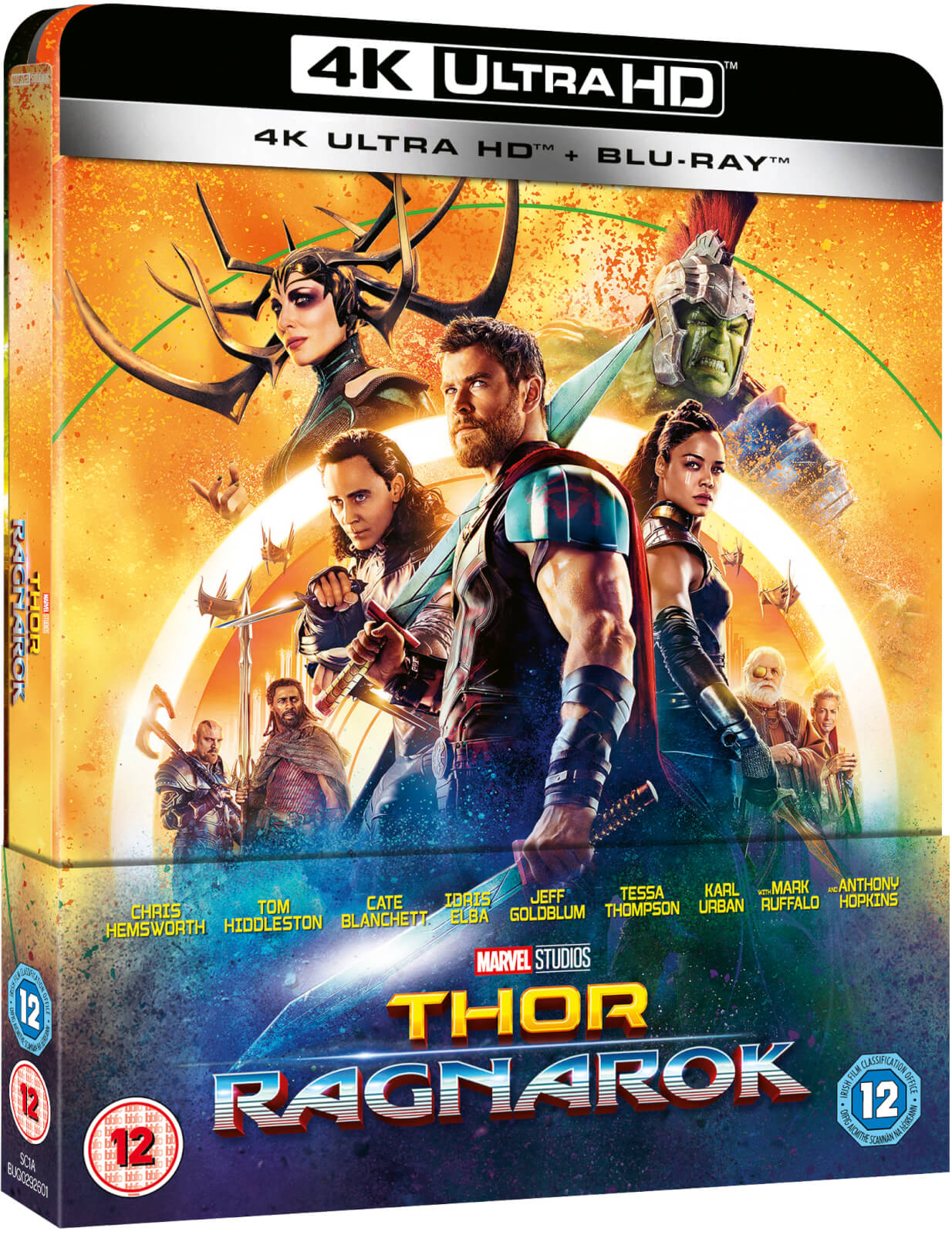 Thor 3: Tag der Entscheidung 4K Ultra HD - Zavvi Exklusives Lentikuläre Edition SteelBook (Inkl. 2D Blu-ray)