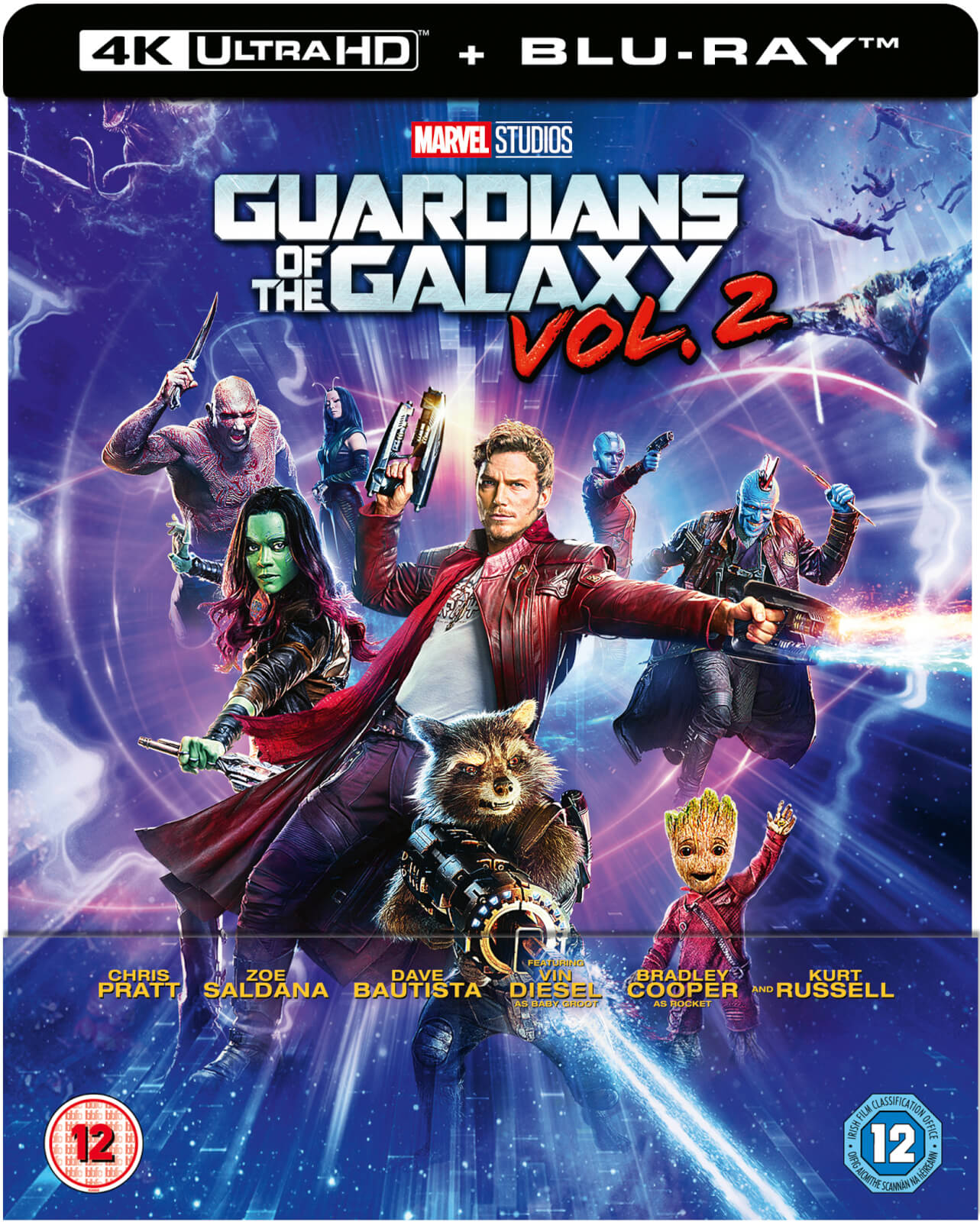 Guardians of the Galaxy Vol. 2 4K Ultra HD - Zavvi Exklusives Lentikuläre Edition SteelBook (Inkl. 2D Blu-ray)