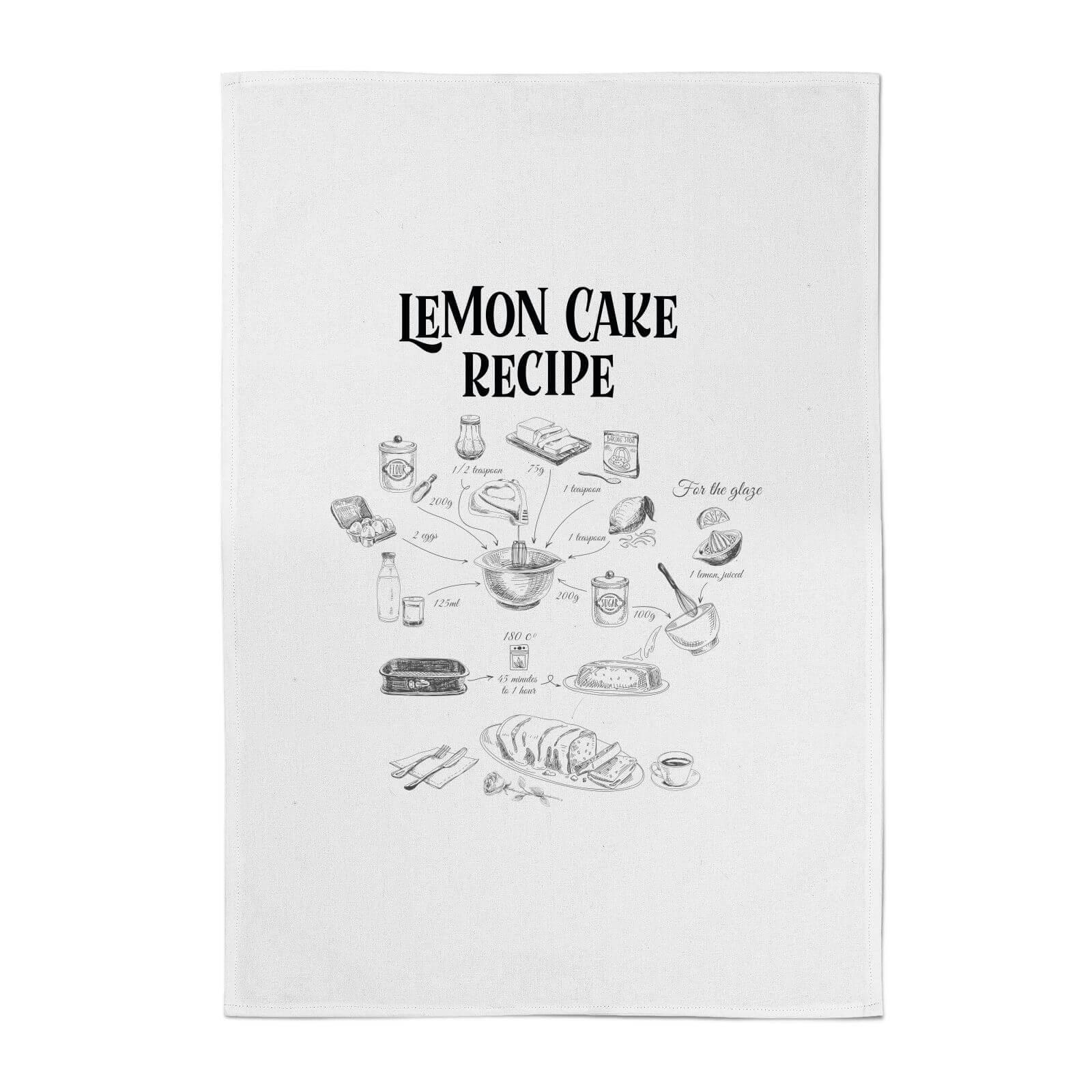 Lemon Cake Recipe Cotton Tea Towel Iwoot