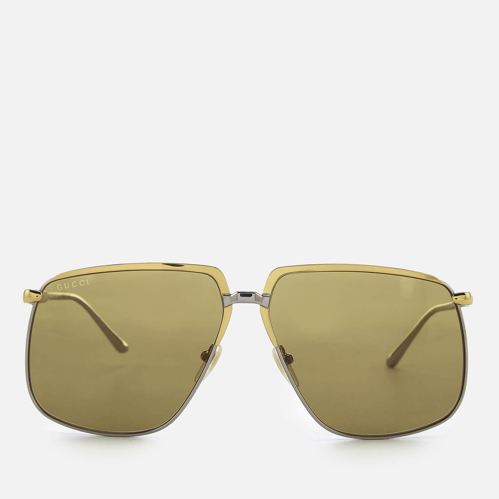 253ce724b7e Gucci Women s Aviator Metal Frame Sunglasses - Gold - Free UK Delivery over  £50
