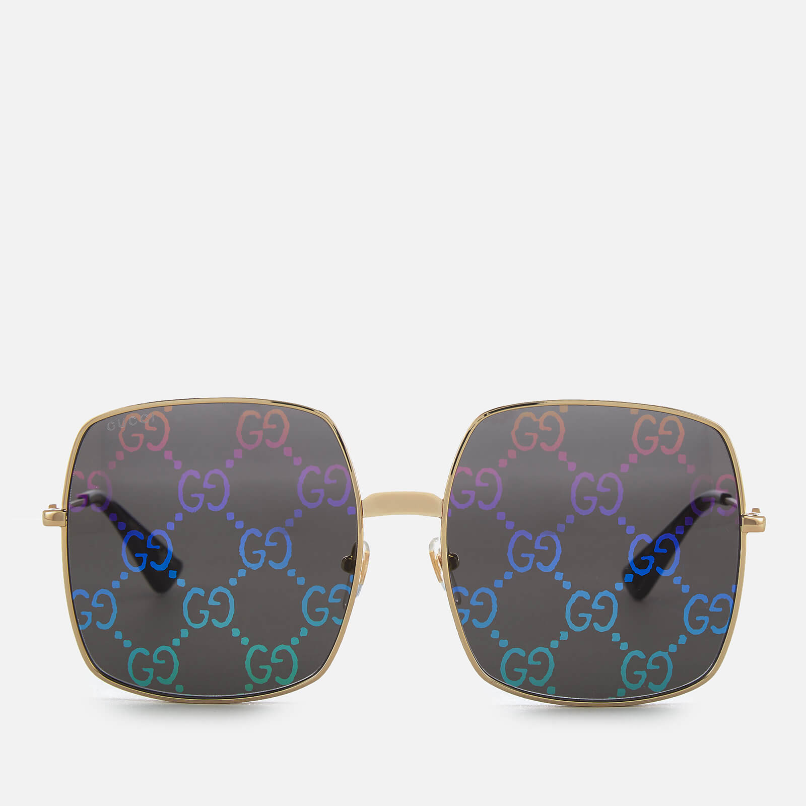 46674d107 Gucci Women's Large Square Frame Sunglasses - Gold - Free UK Delivery over  £50