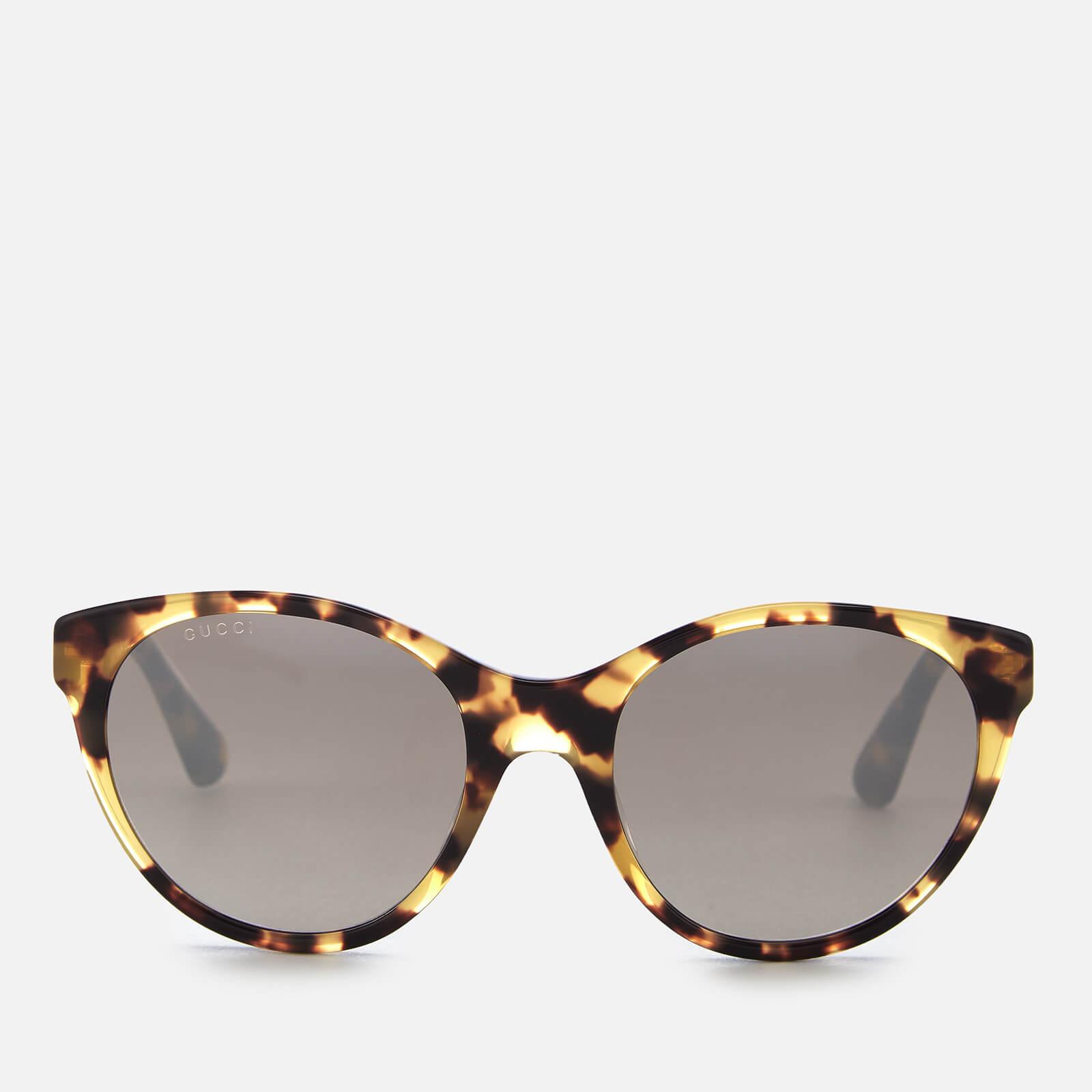 8e4110b038 Gucci Women s Oval Tortoiseshell Sunglasses - Brown - Free UK Delivery over  £50