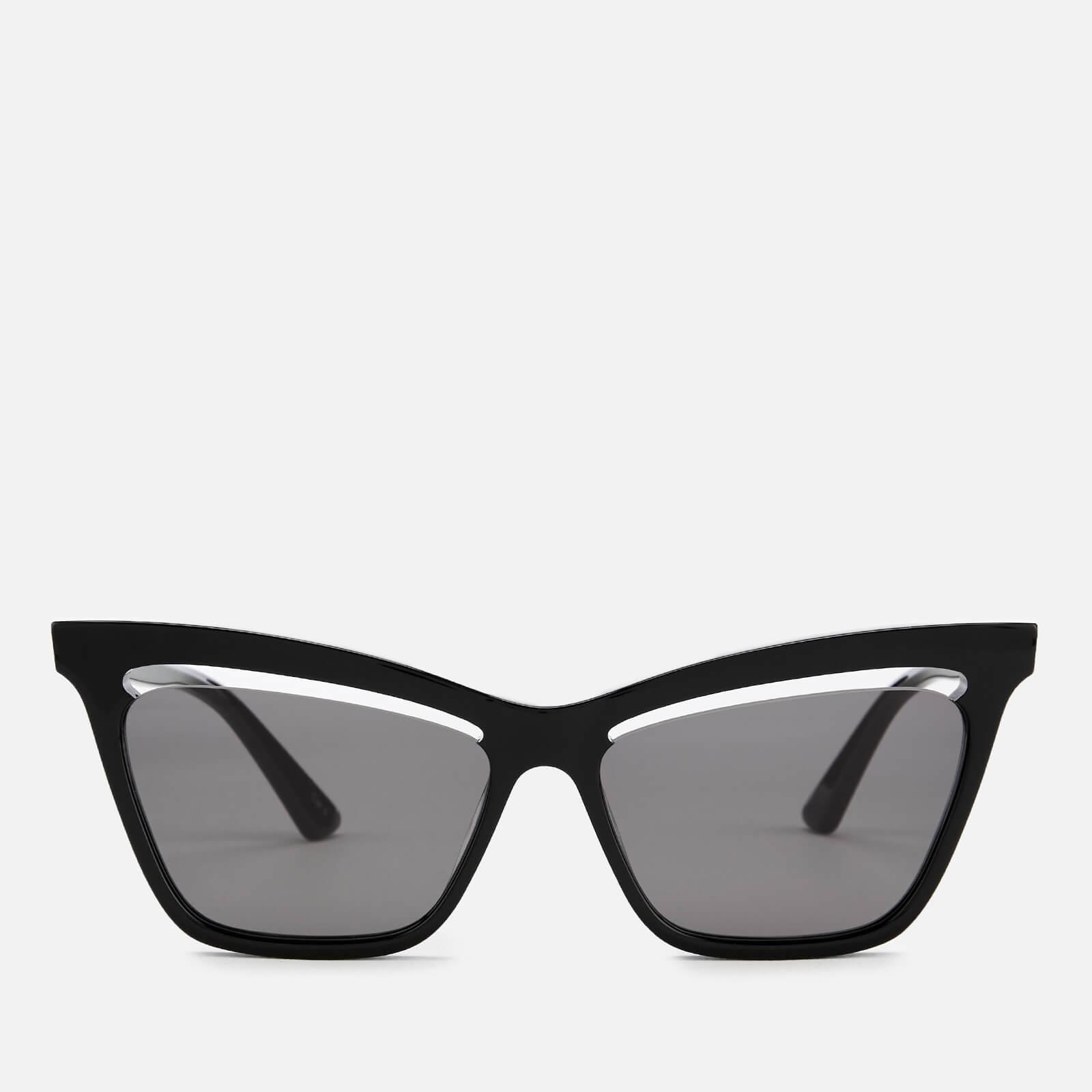 a1a0a62817c5 McQ Alexander McQueen Women s Cat-Eye Sunglasses - Black - Free UK ...