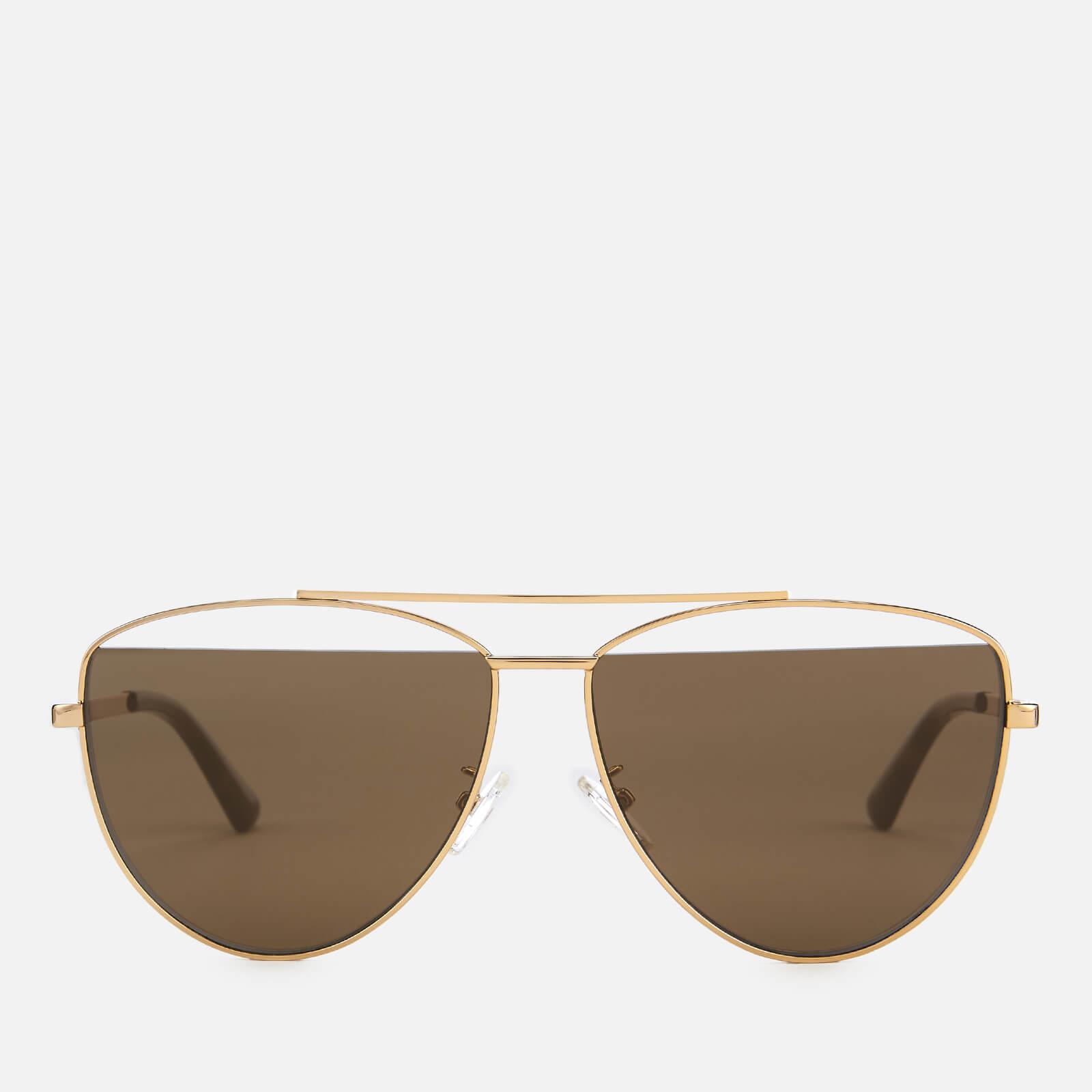 f9796687c2 McQ Alexander McQueen Women s Metal Aviator Style Sunglasses - Gold ...