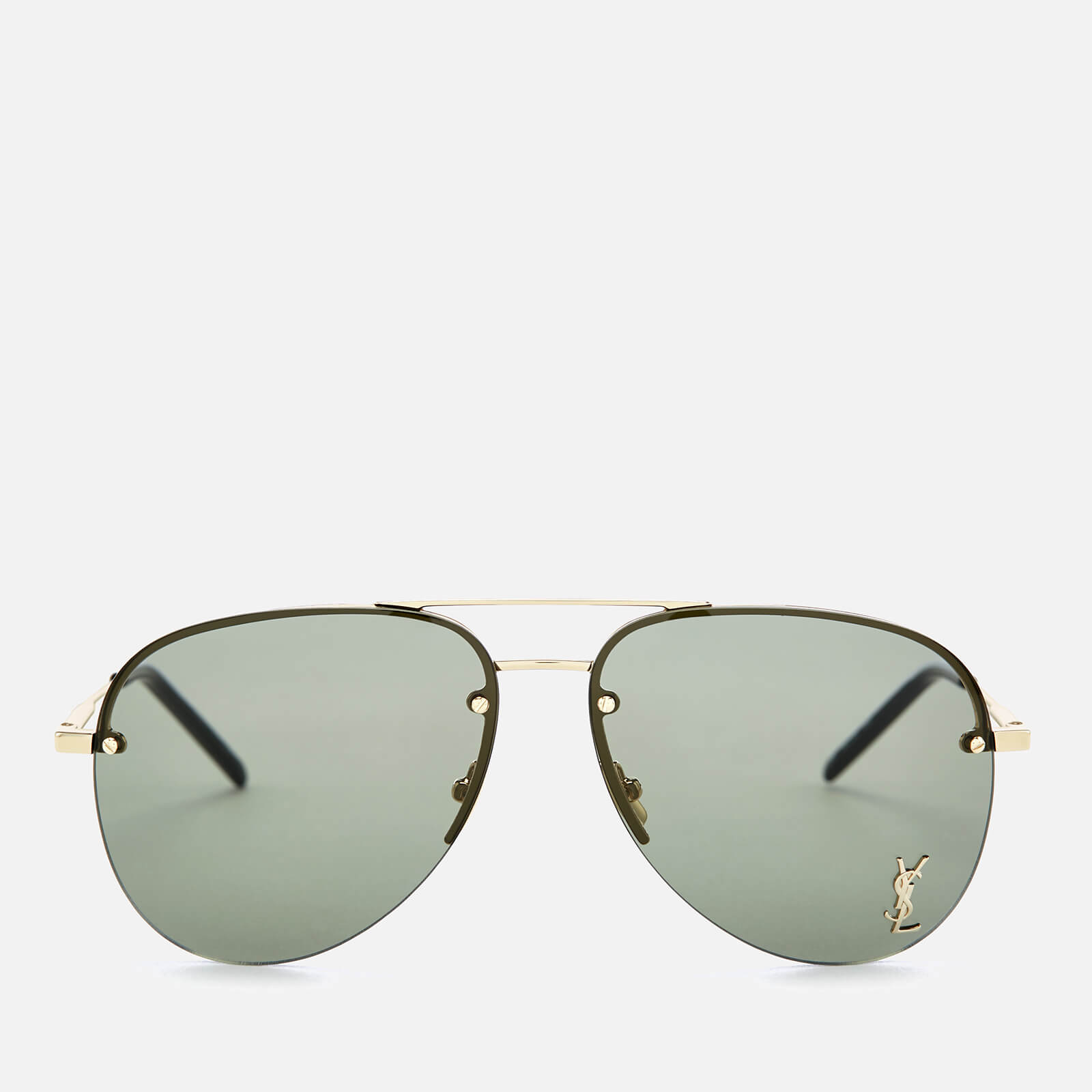 8d86014d74 Saint Laurent Metal Aviator Style Sunglasses - Gold - Free UK Delivery over  £50