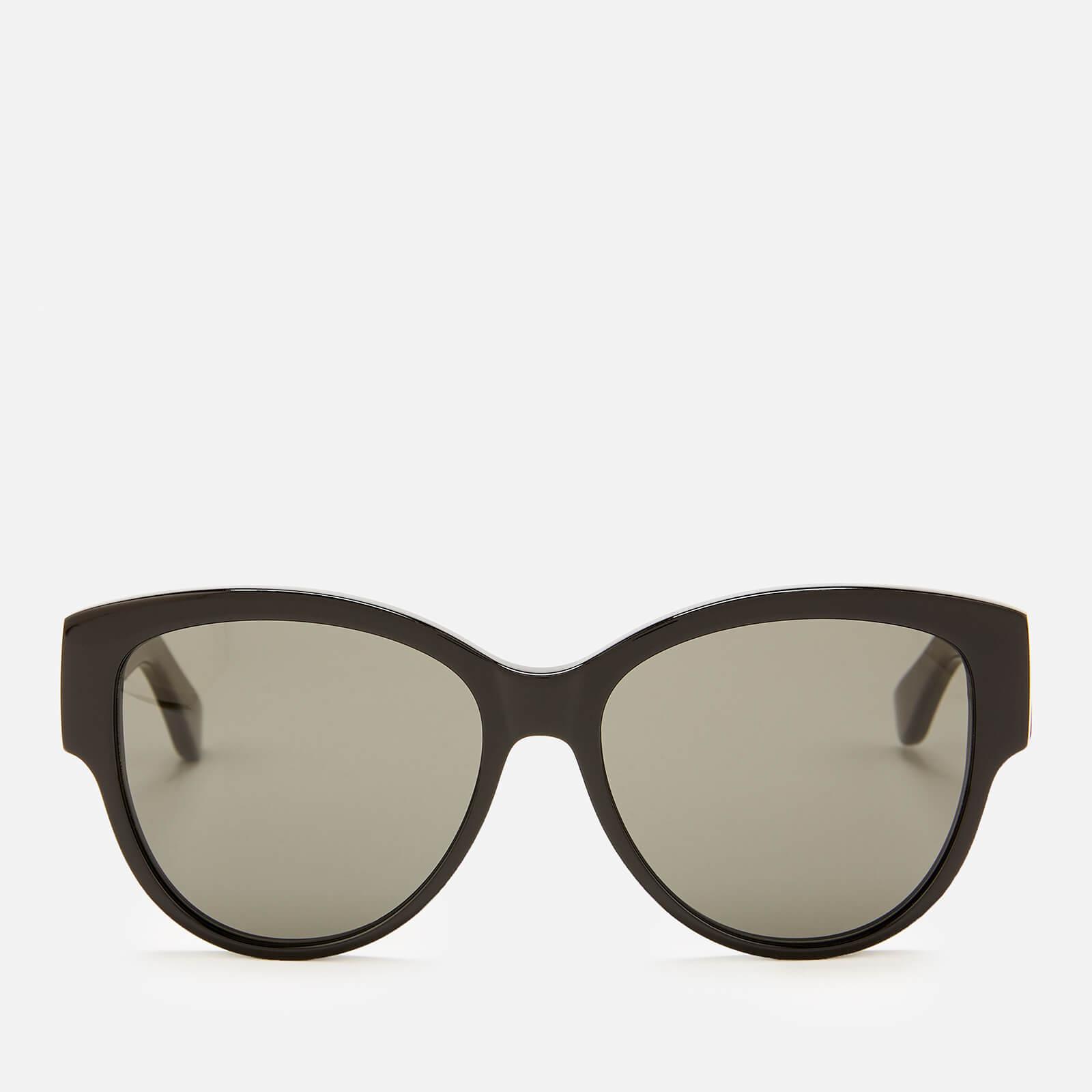 9fc4dfd43d3 Saint Laurent Women's Oversized Round Frame Sunglasses - Black - Free UK  Delivery over £50