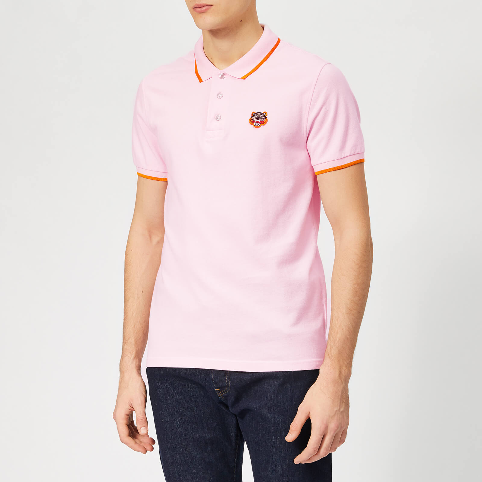 a876ae06d8 KENZO Men's Tipped Polo Shirt - Pastel Pink - Free UK Delivery over £50