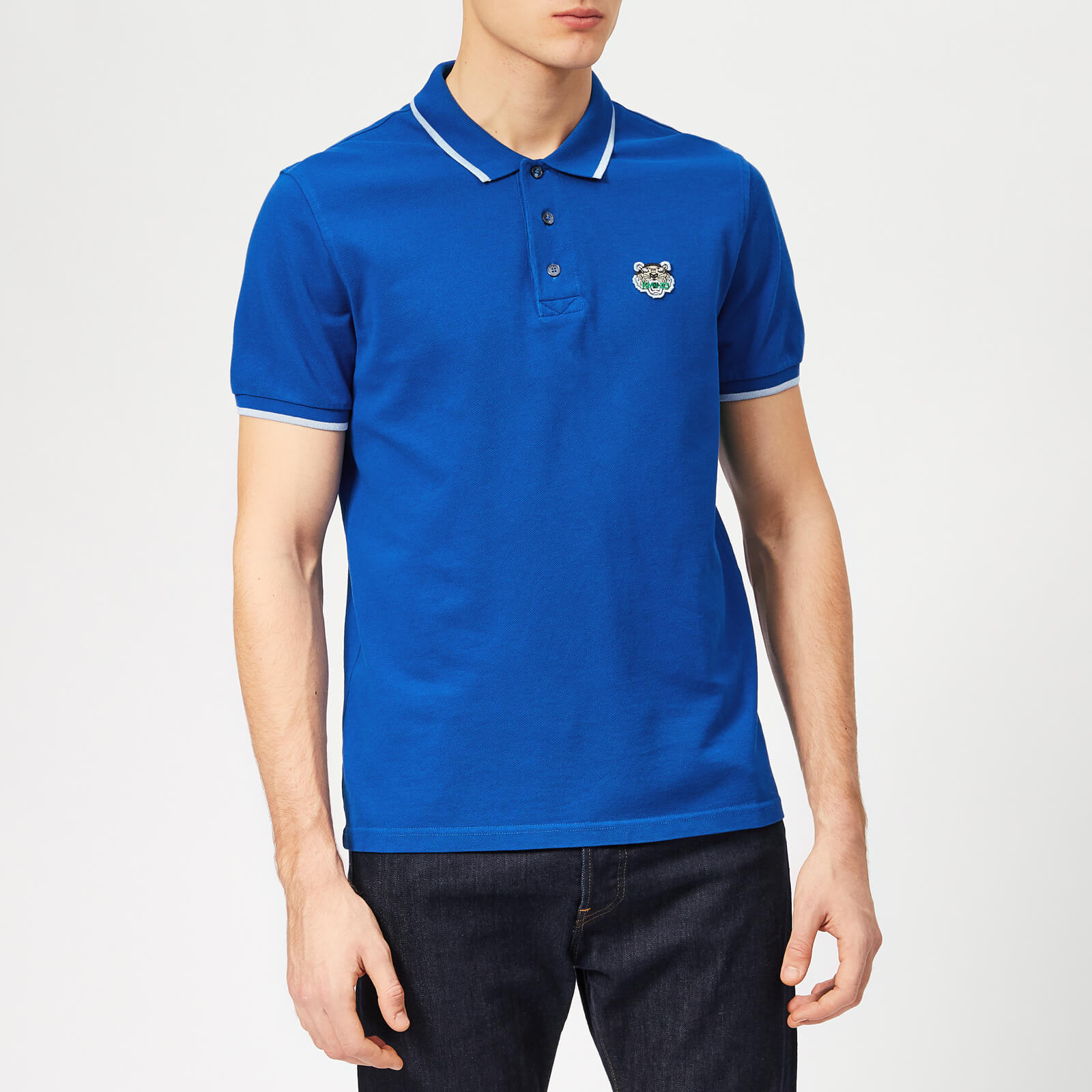 d1b4755d3484 KENZO Men's Tipped Polo Shirt - French Blue - Free UK Delivery over £50
