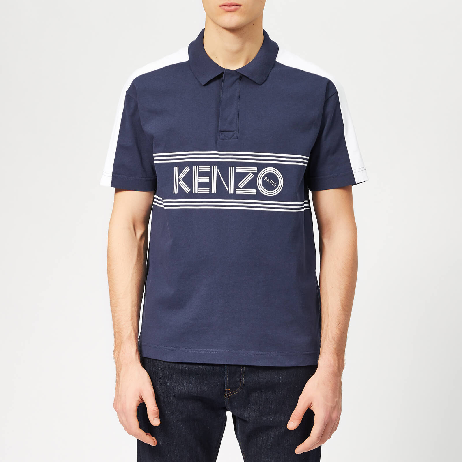 d19b80a8 KENZO Men's Chest Logo Polo Shirt - Ink - Free UK Delivery over £50