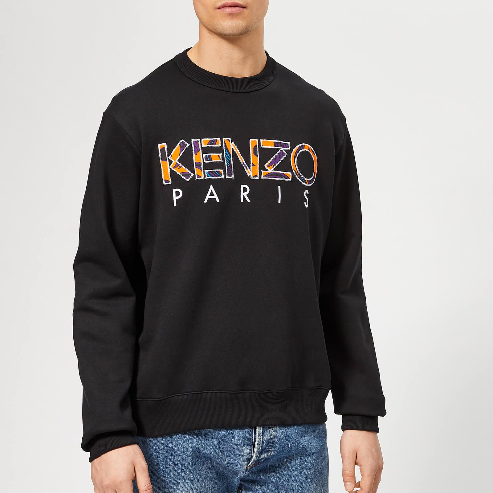 f79b70d6 KENZO Men's Pattern Logo Sweatshirt - Black - Free UK Delivery over £50