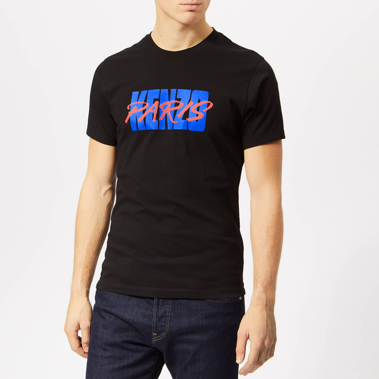 e4da49a0 KENZO Men's Paris Logo T-Shirt - Black - Free UK Delivery over £50