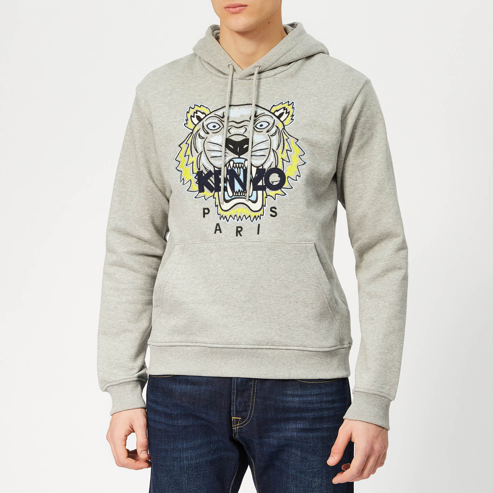 2d09124483 KENZO Men's Icon Overhead Hoodie - Grey - Free UK Delivery over £50
