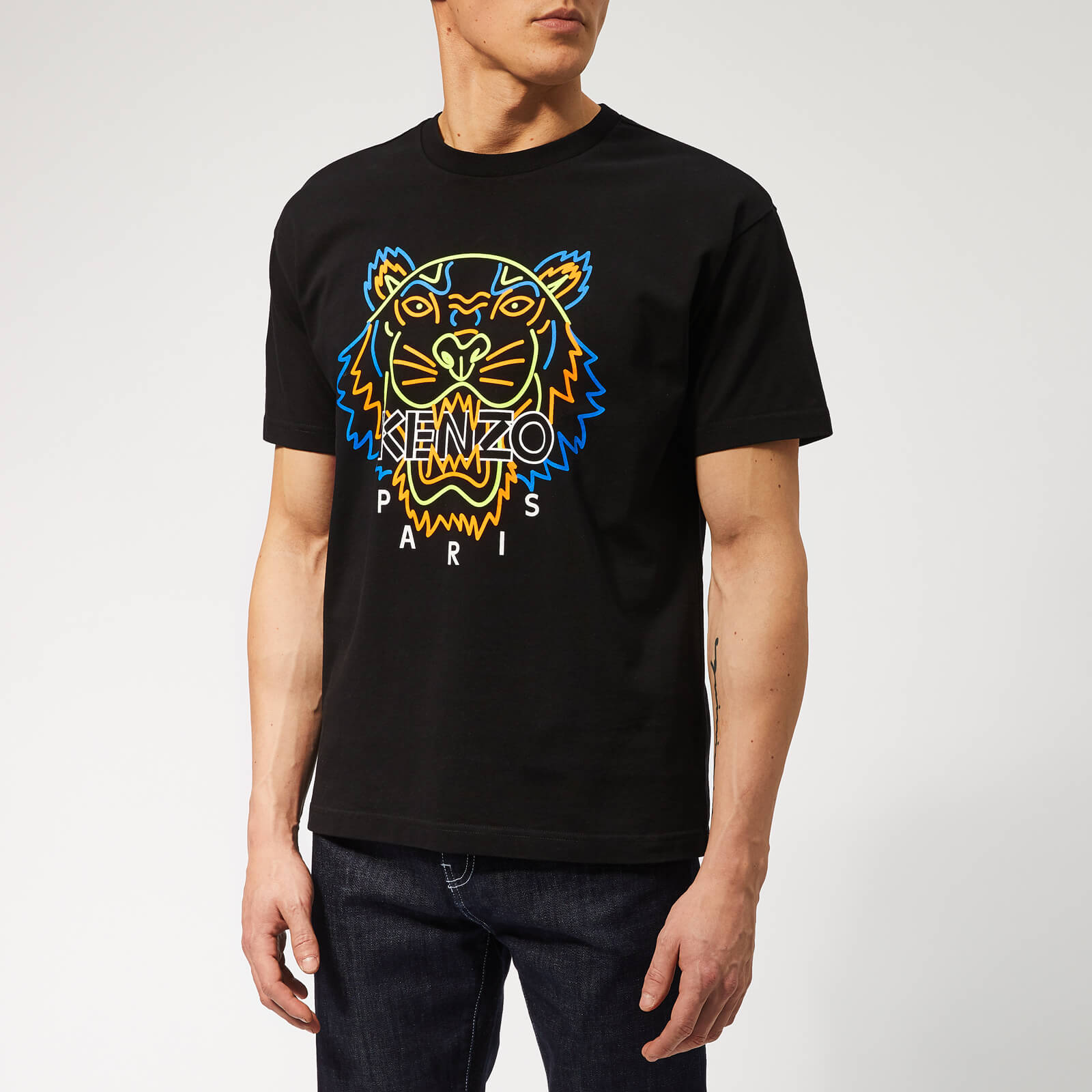 0f4b3ccd KENZO Men's Icon Neon T-Shirt - Black - Free UK Delivery over £50
